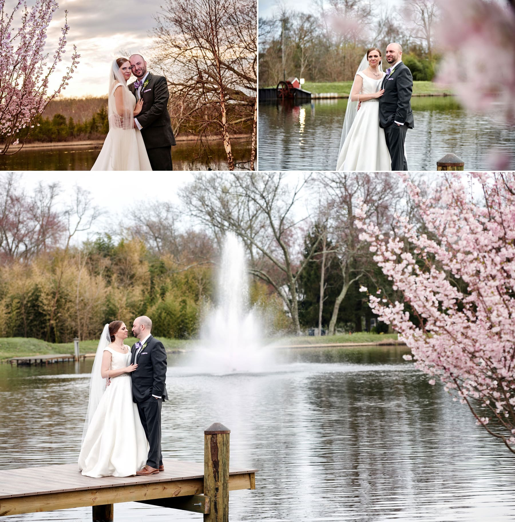 bride and groom photos at The Mill lakeside Manor