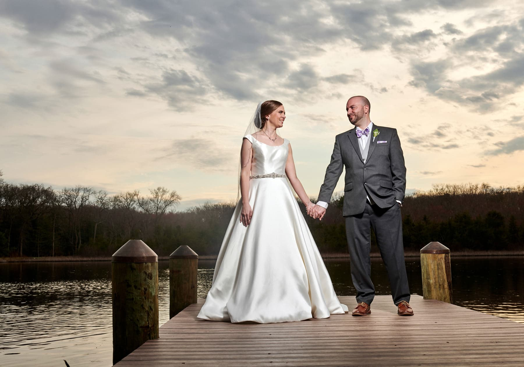 sunset wedding photo at The Mill lakeside Manor
