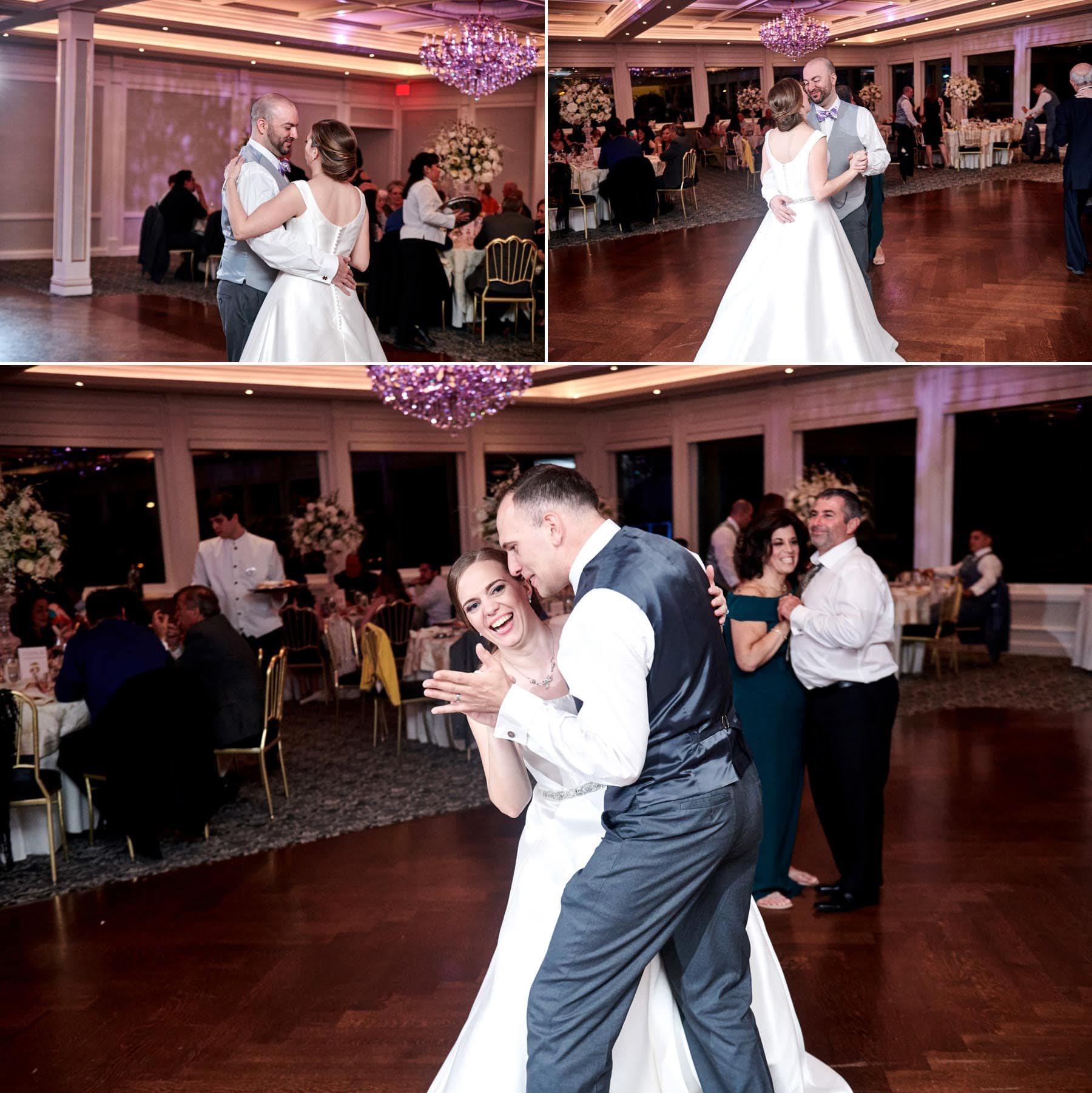 bride and groom dancing at The Mill lakeside Manor