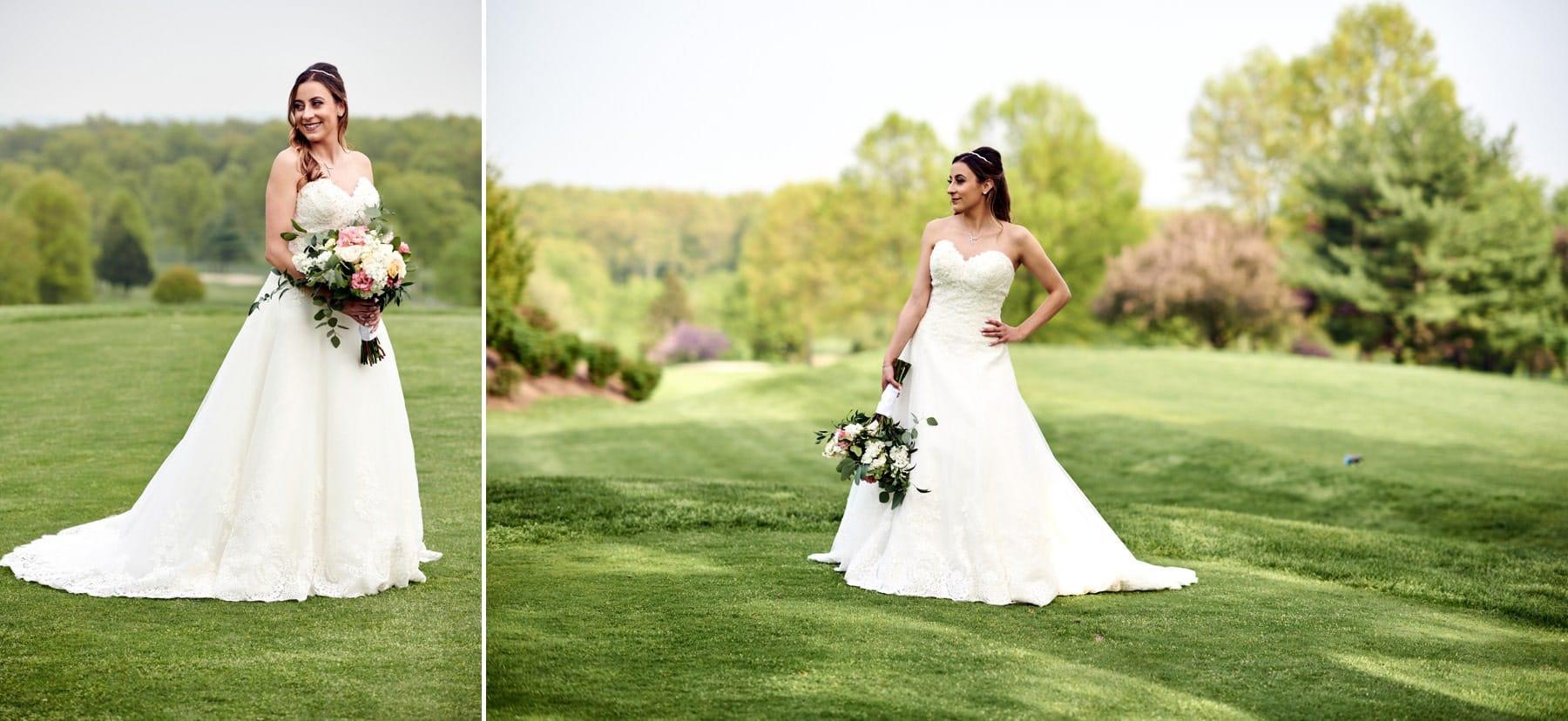 bride at basking ridge country club