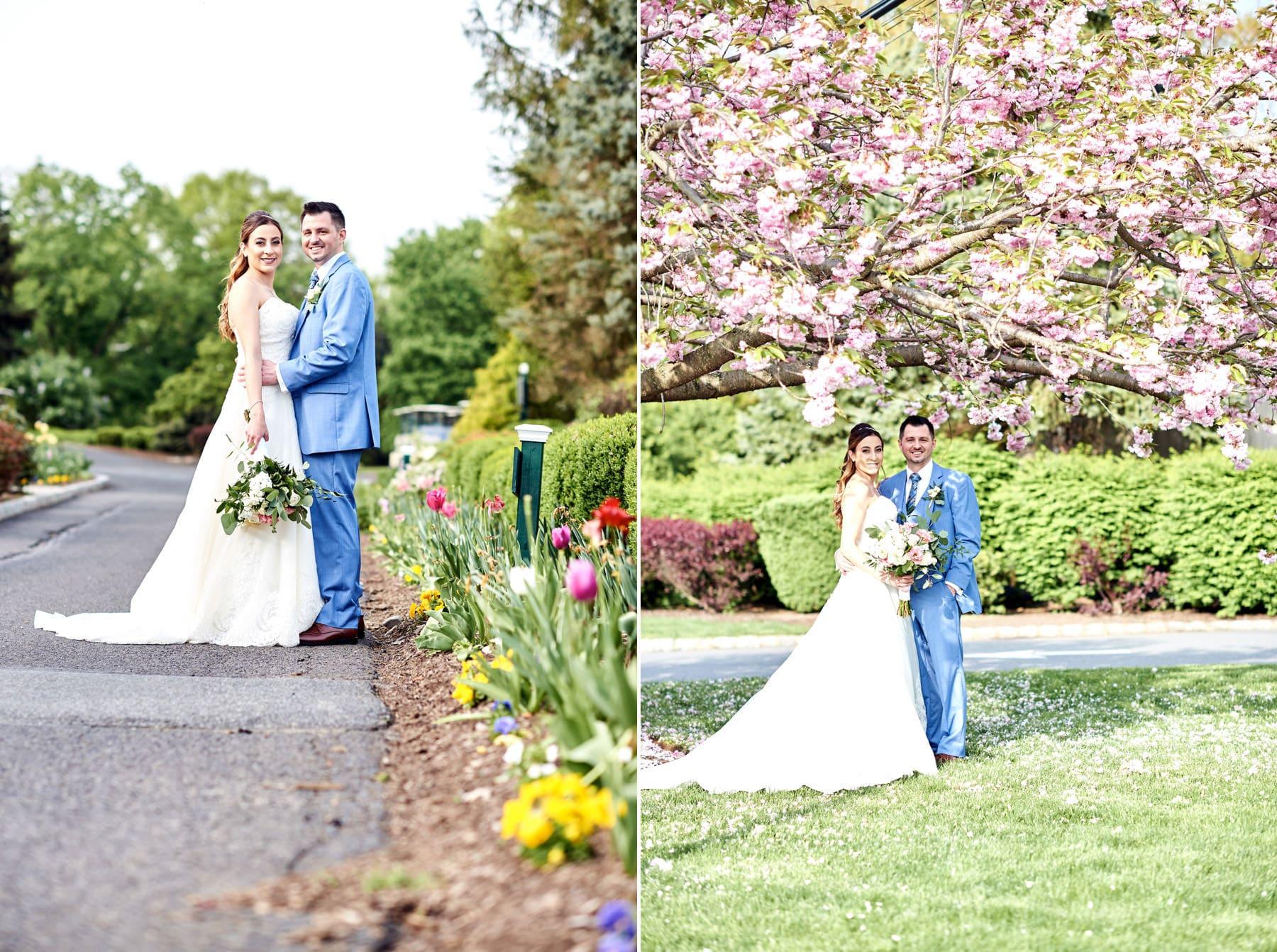 spring wedding photos at basking ridge country club