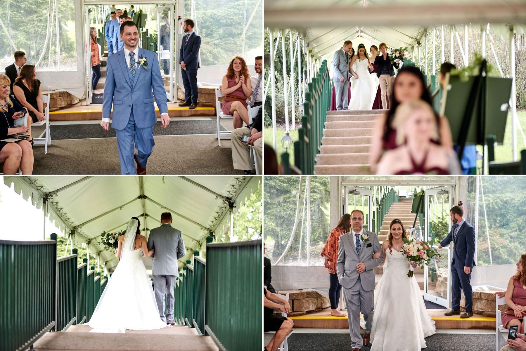 basking ridge country club wedding tent ceremony