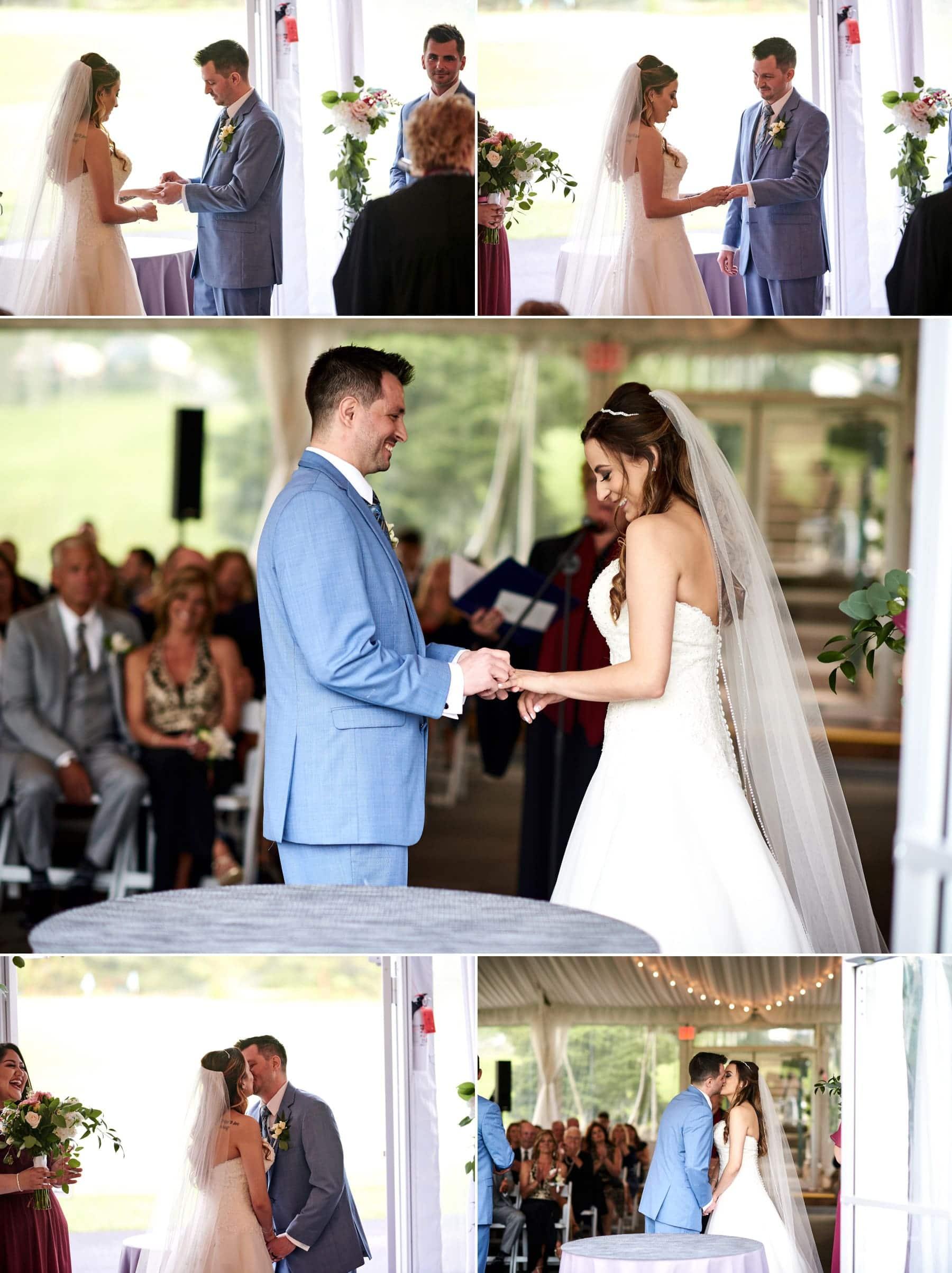wedding ceremony photos at basking ridge country club