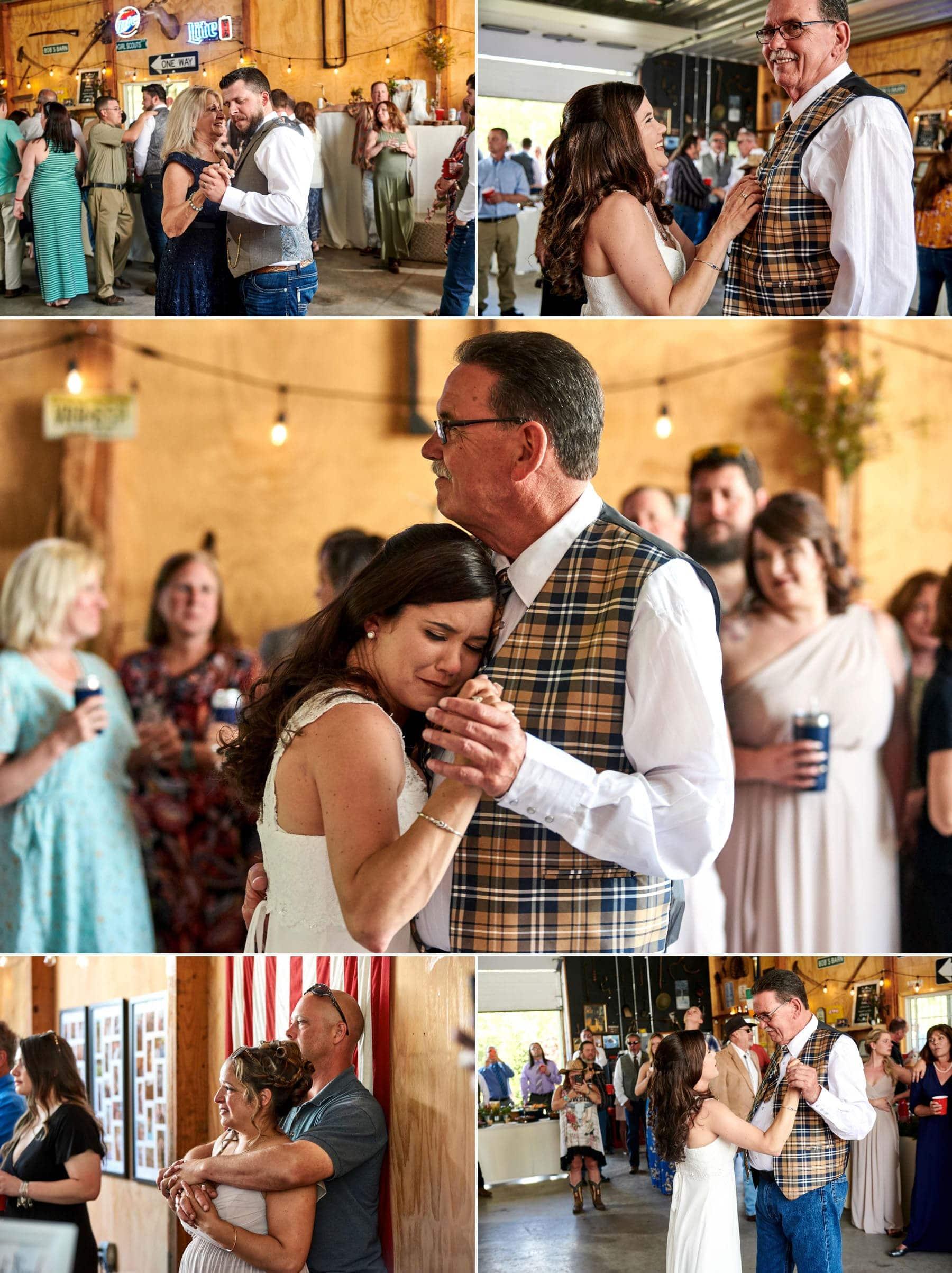 farm wedding parent dance photos