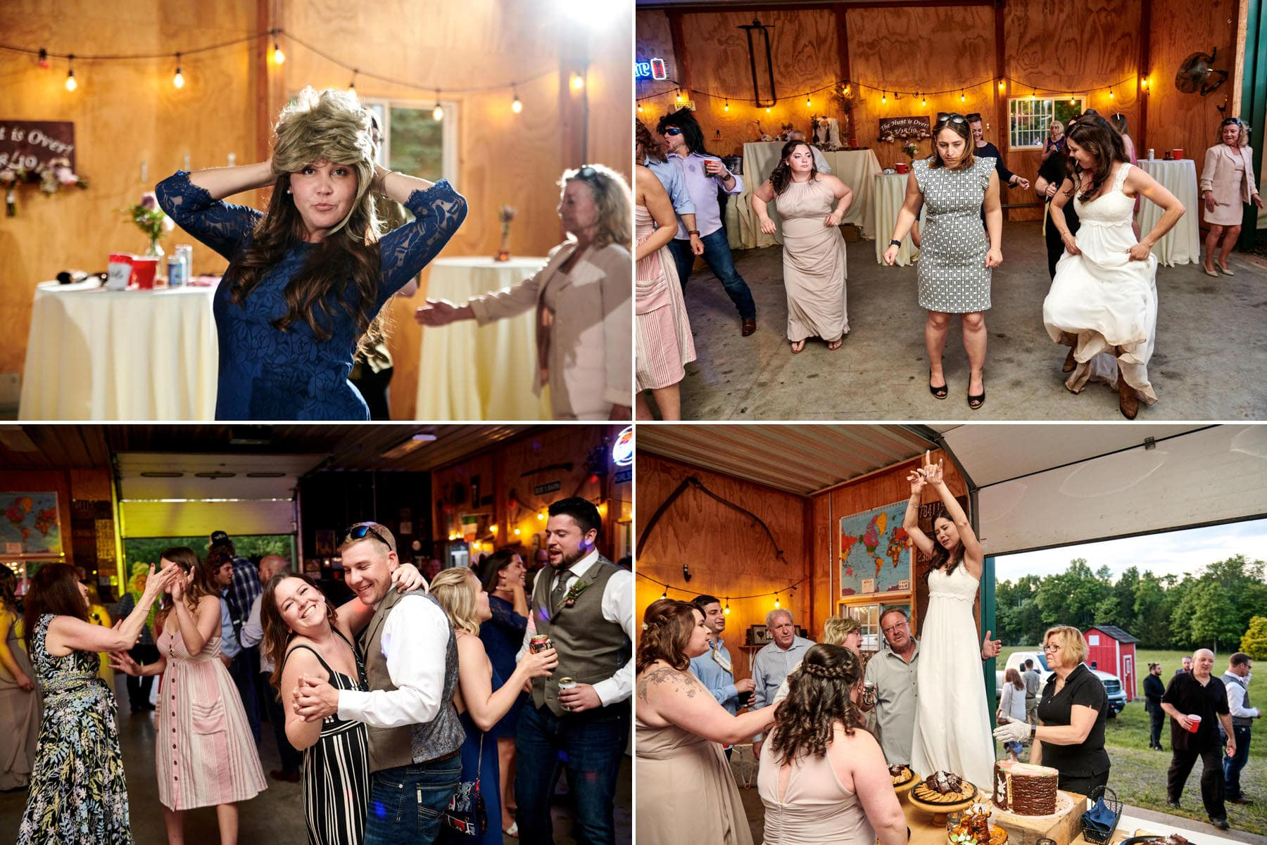 dancefloor photos at farm wedding