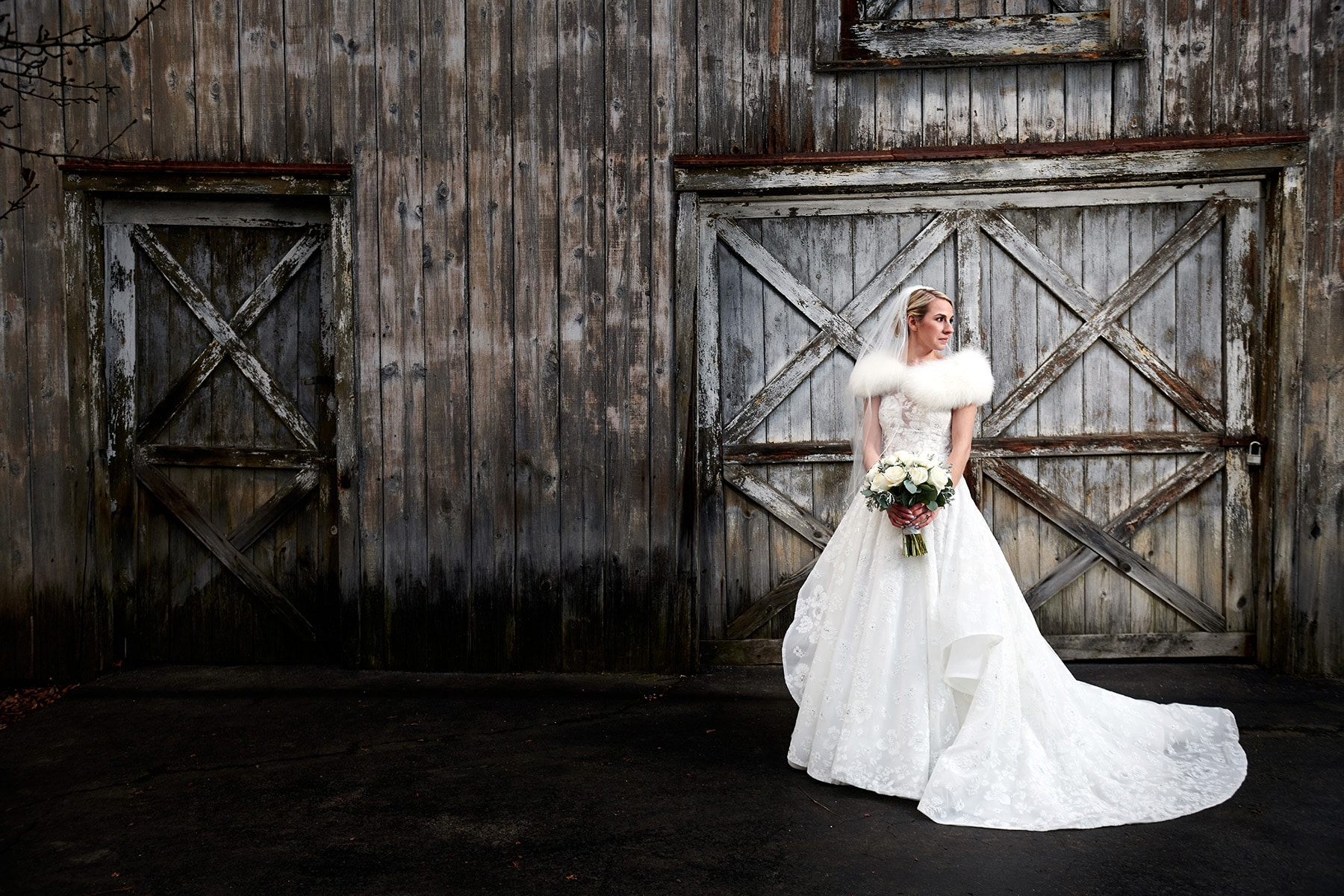 winter wedding at the bernards inn photo