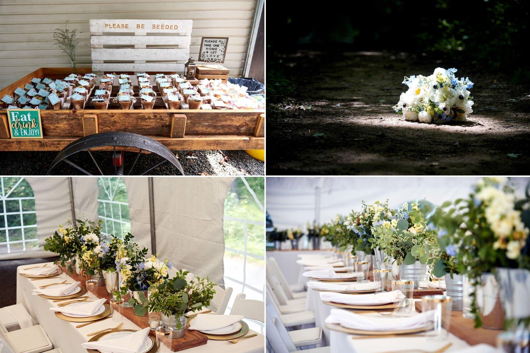 wedding detail photos at maskers barn