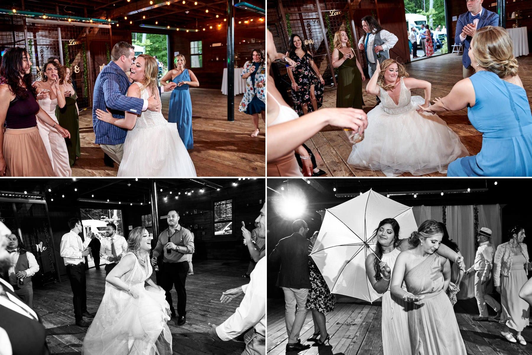 wedding dancing photos at maskers barn