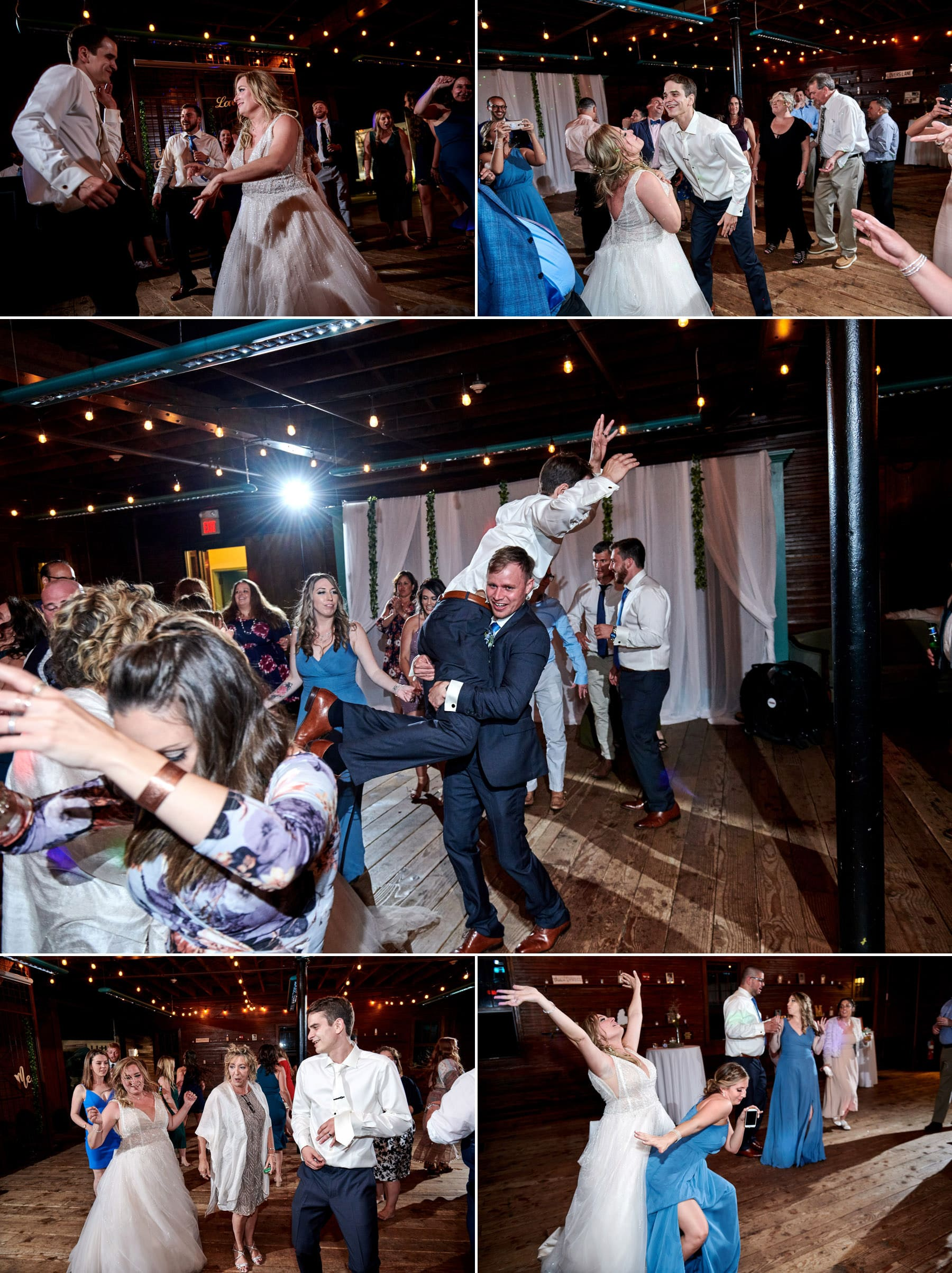 wedding photos inside at maskers barn