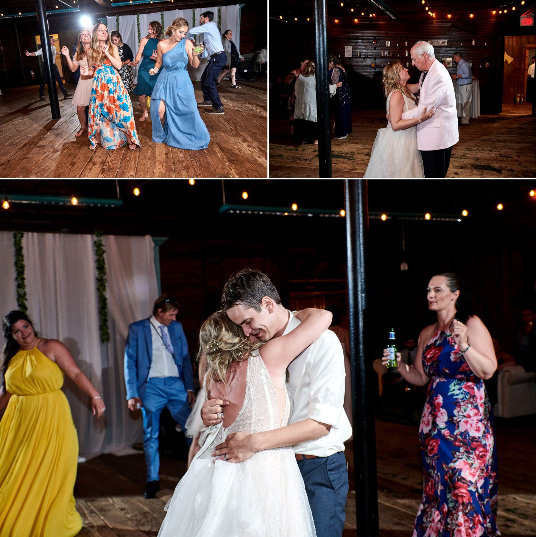 wedding photos in the barn at maskers barn