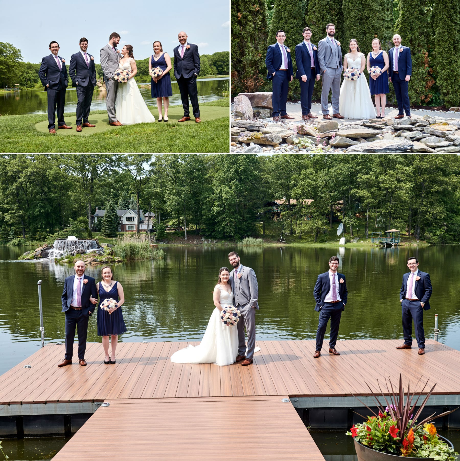 Rock Island Lake Club bridal party photos