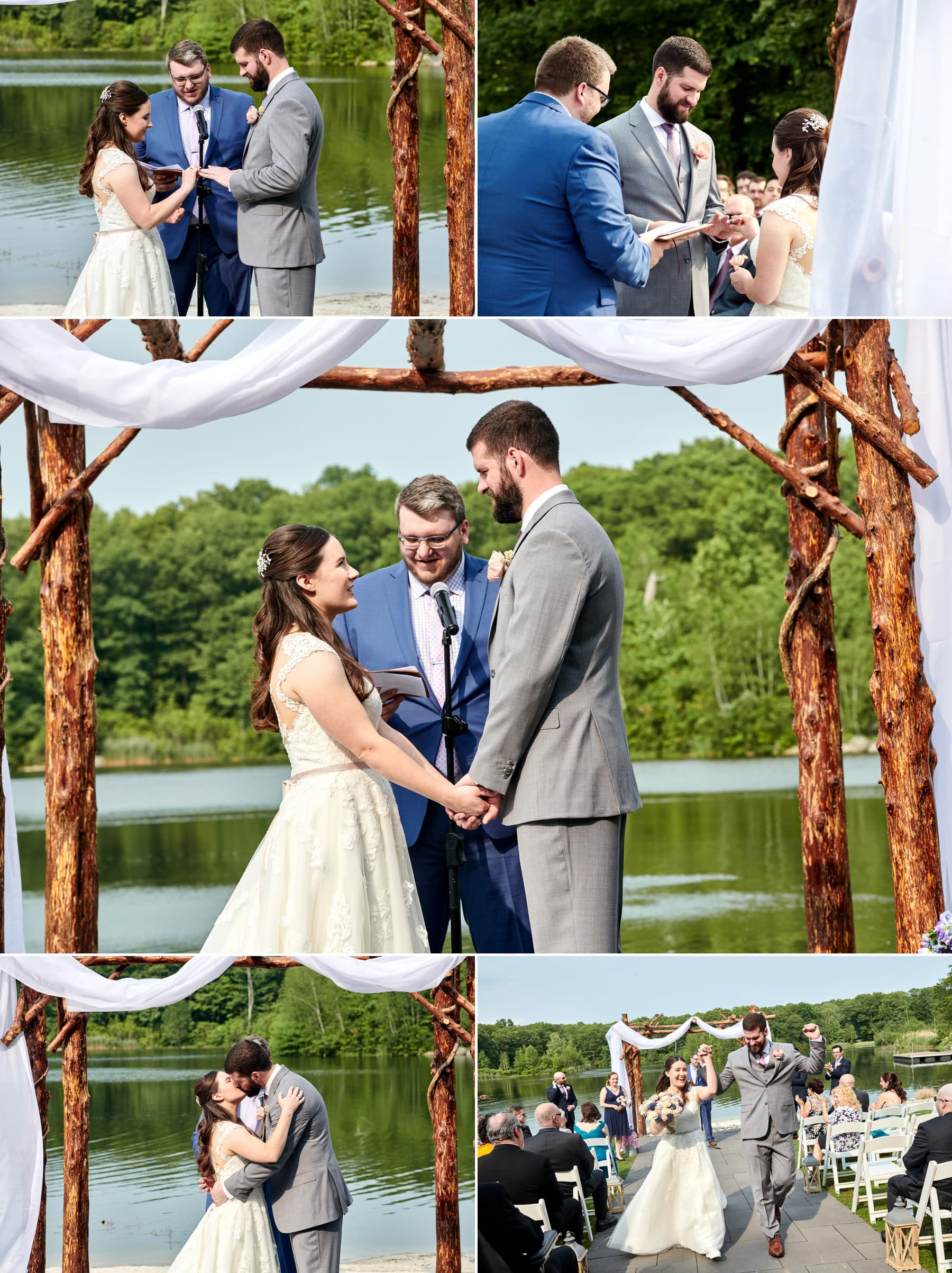 Rock Island Lake Club wedding ceremony photos