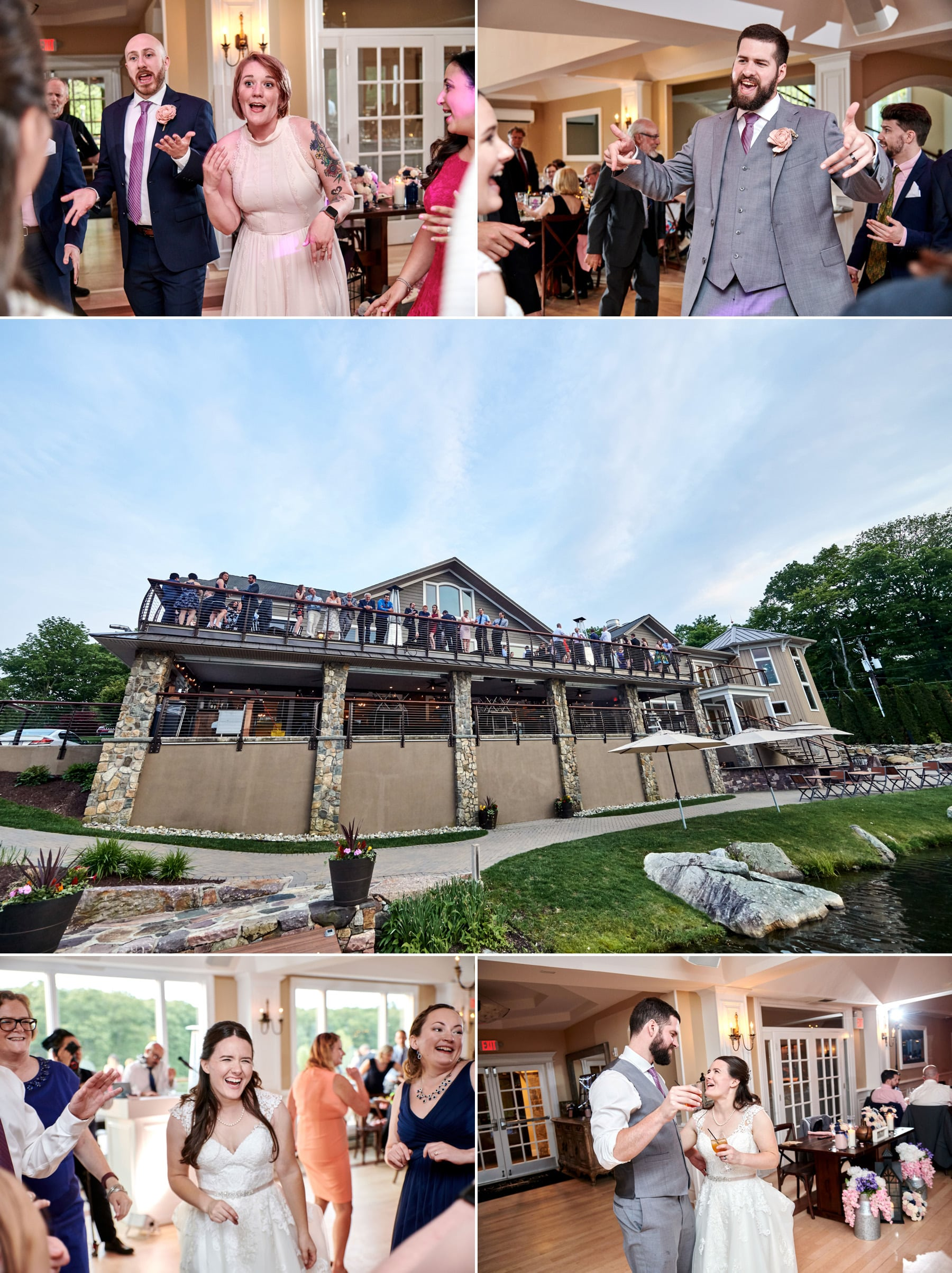 Rock Island Lake Club wedding reception photos