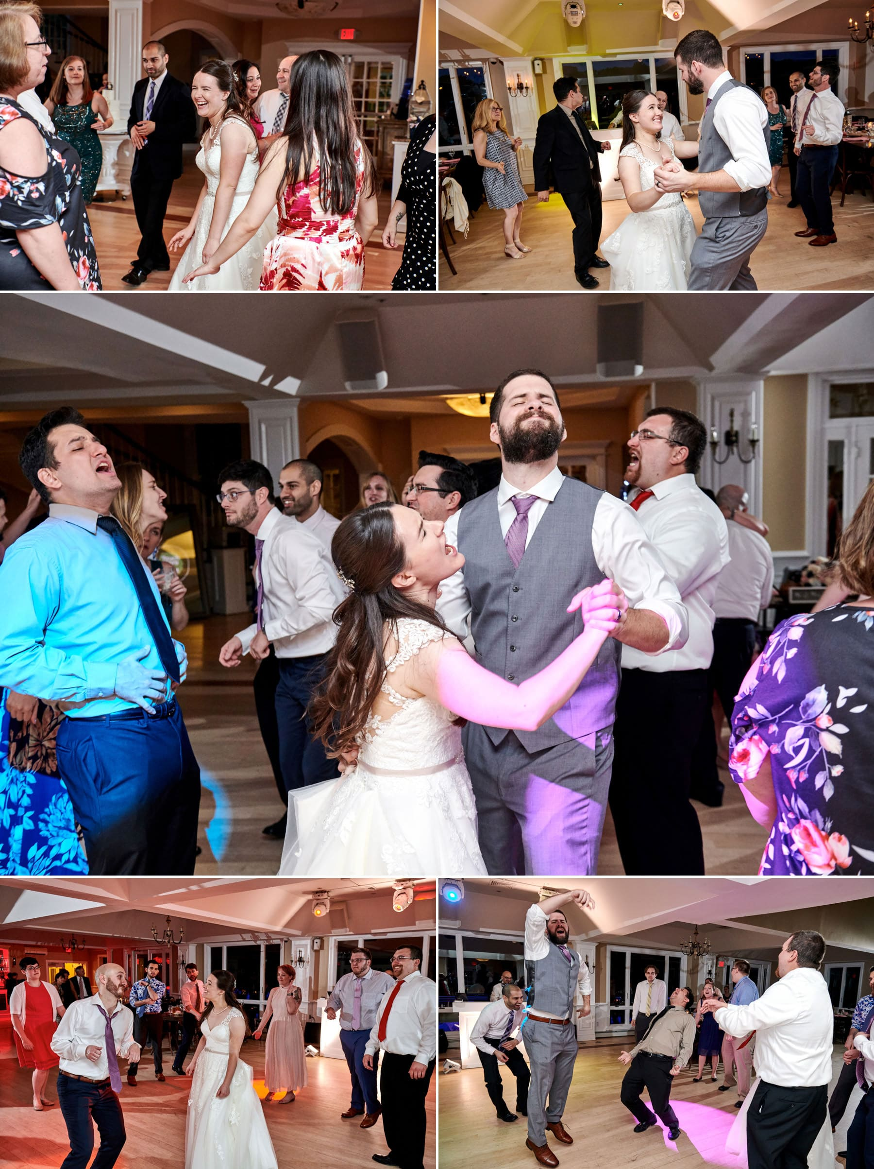 wedding reception dance photos at Rock Island Lake Club
