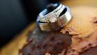 rustic wedding ring photo