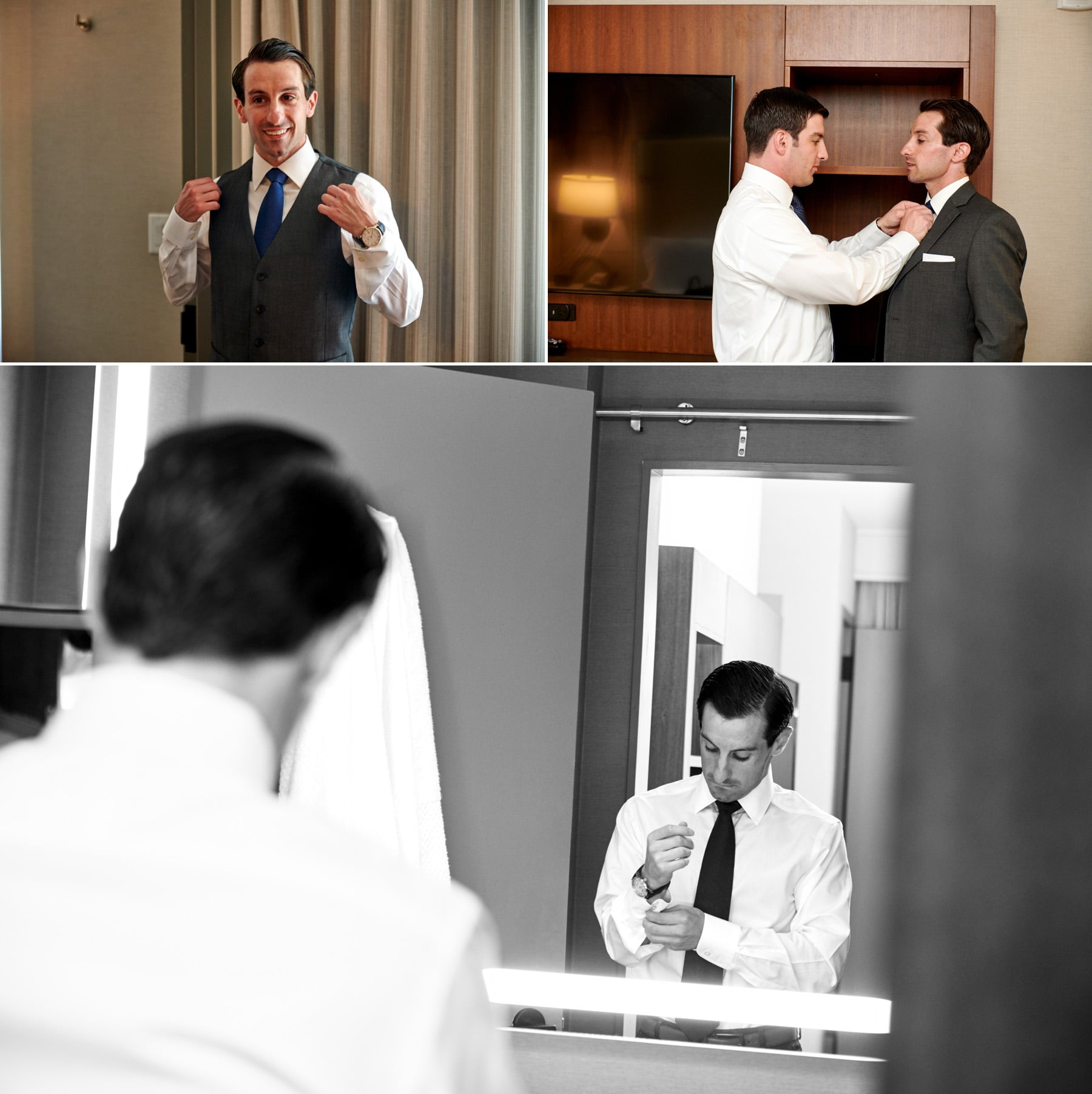 groom getting ready photos