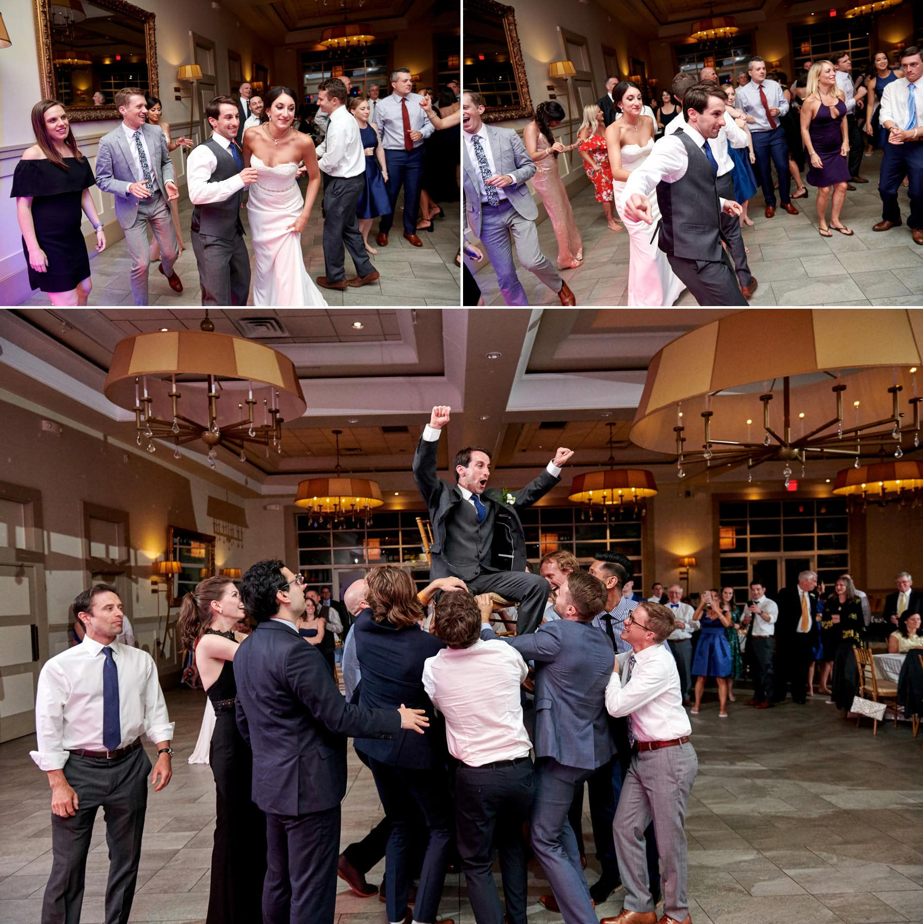 stone house at stirling ridge wedding packed dancefloor photos