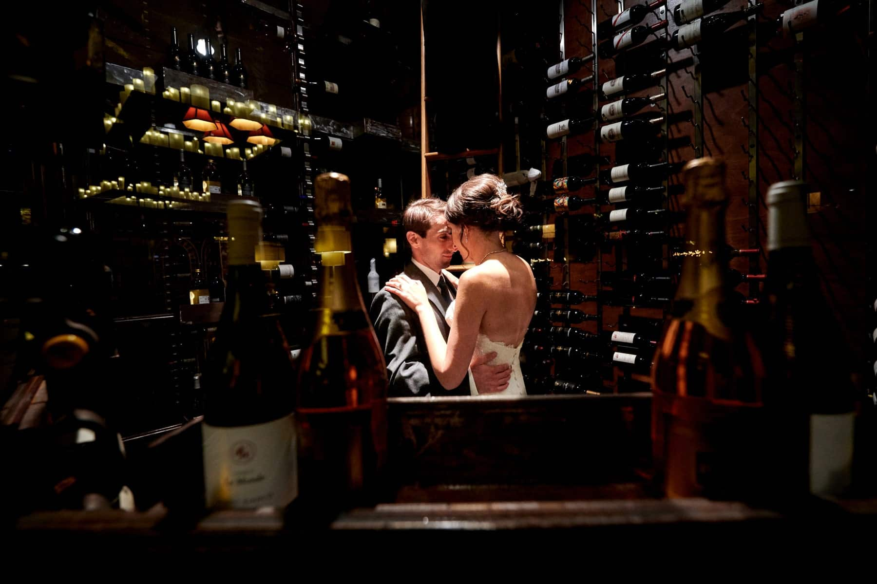 stone house at stirling ridge wedding wine cellar photo