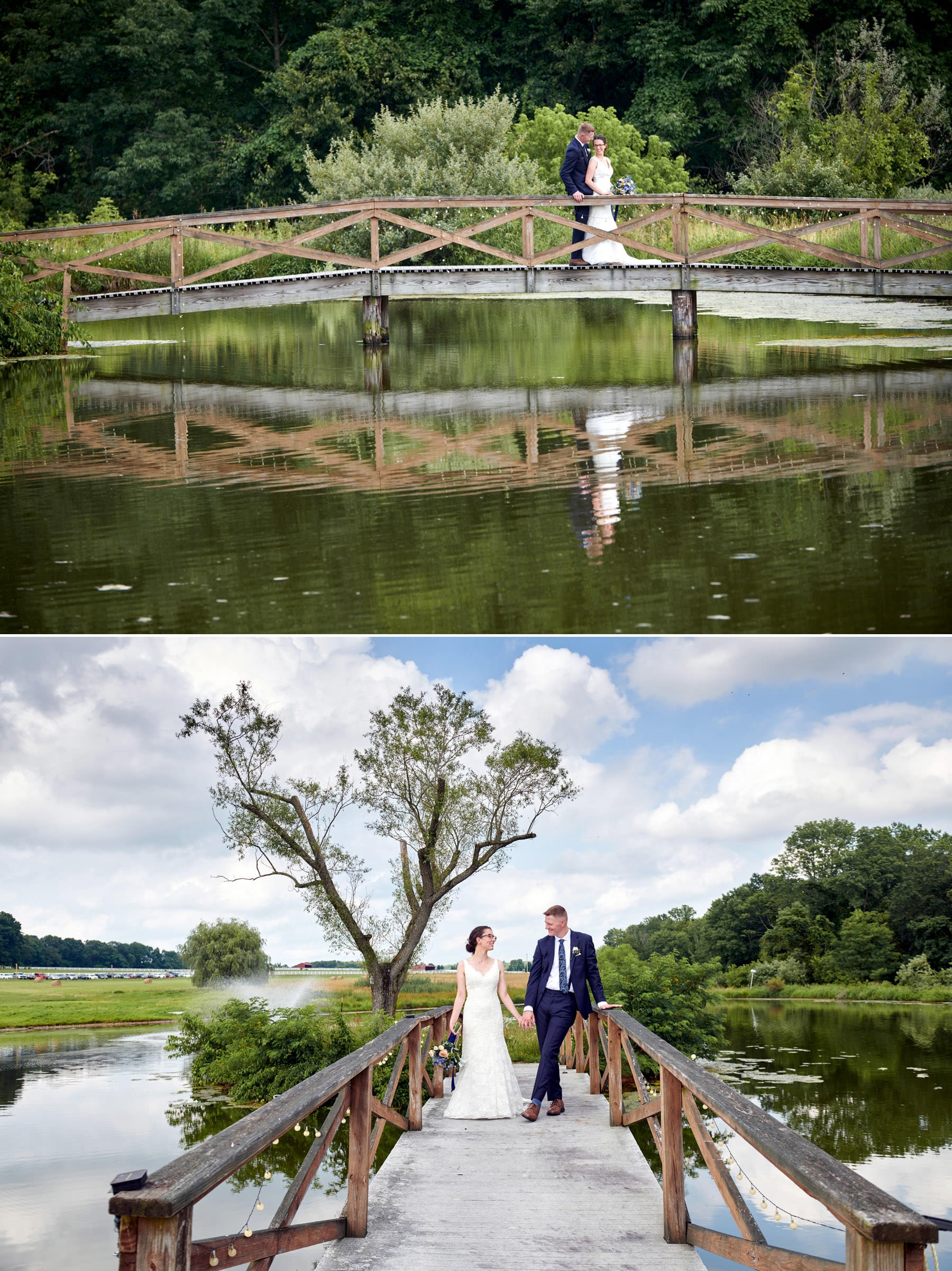 born to run farm wedding photos on the bridge