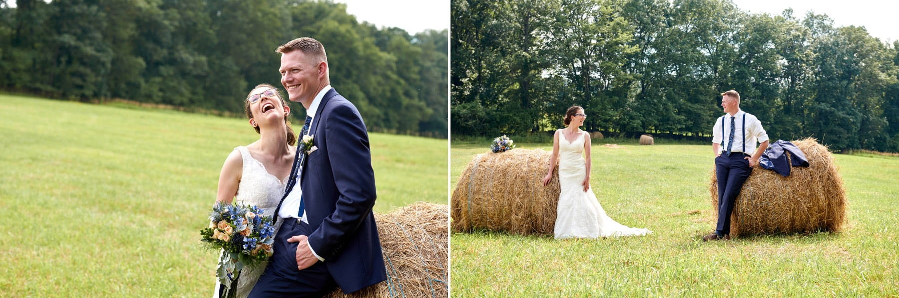hay bale wedding photos at born to run farm