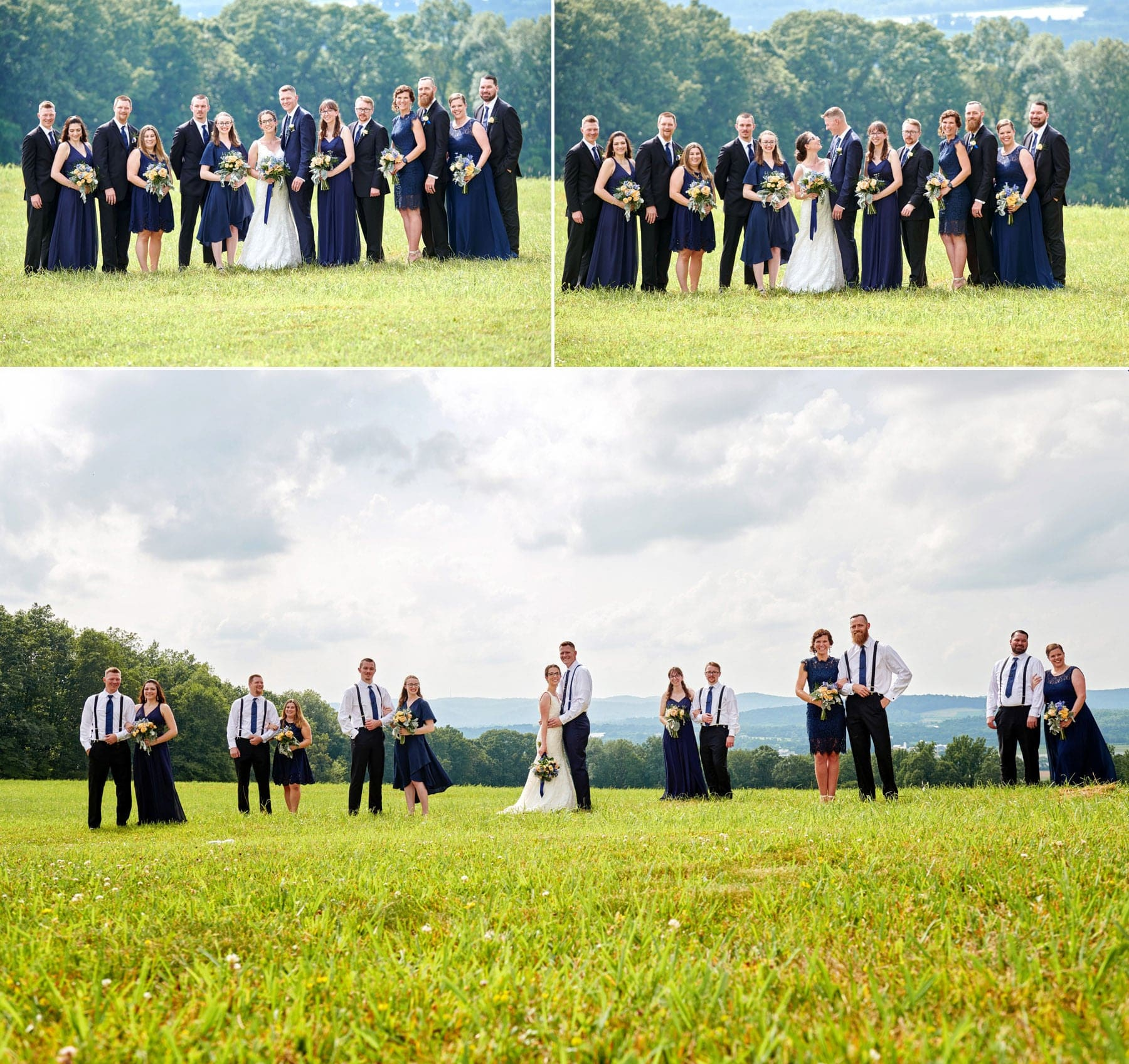 bridal party photos at born to run farm
