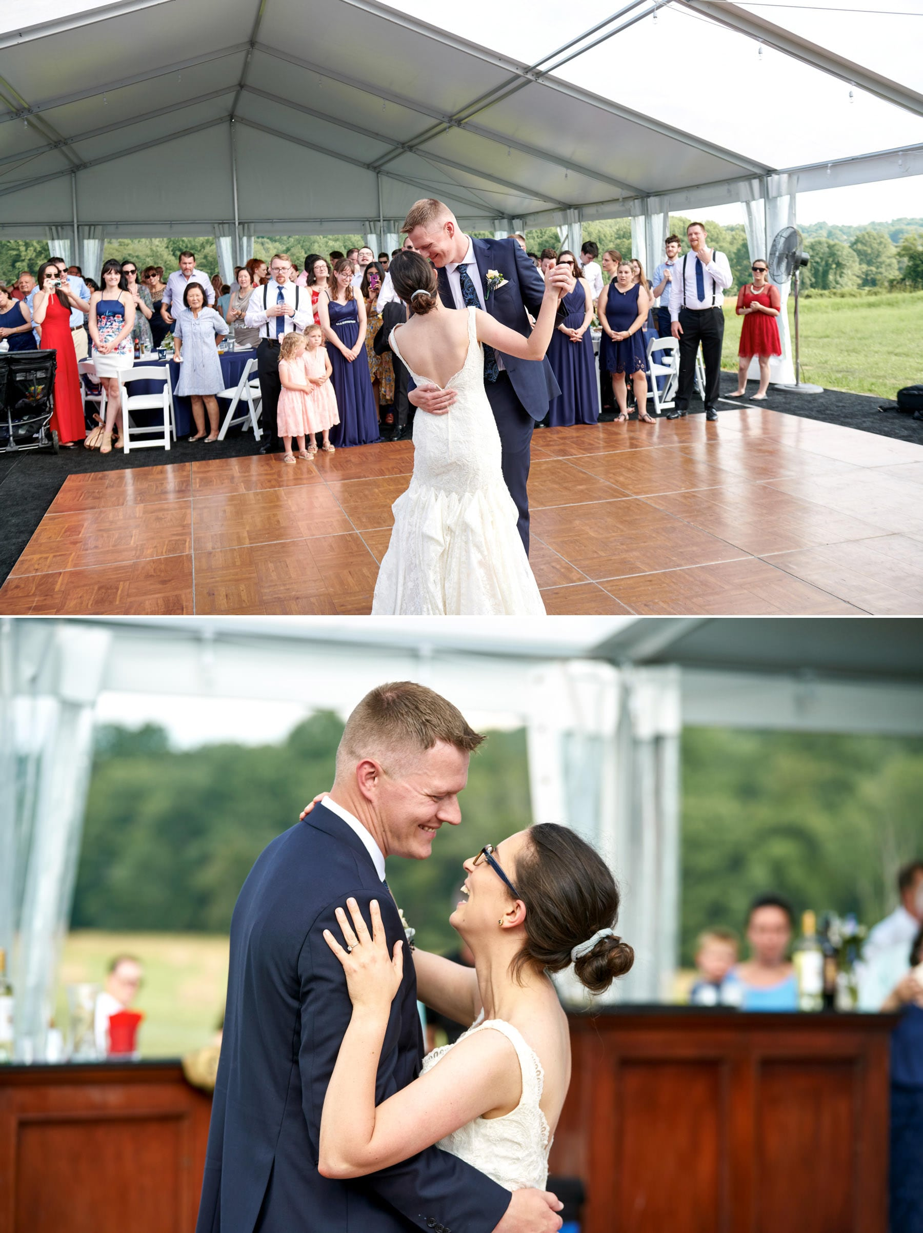 first dance at born to run farm