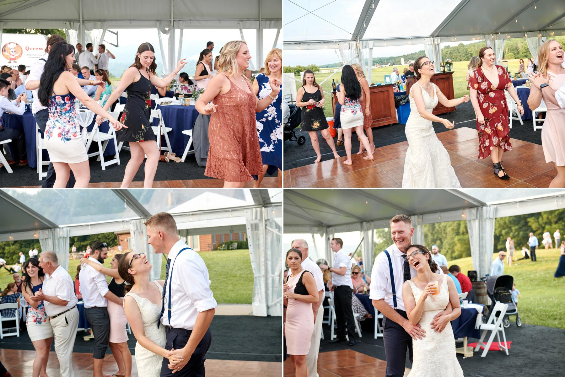 wedding dance floor photos at born to run farm