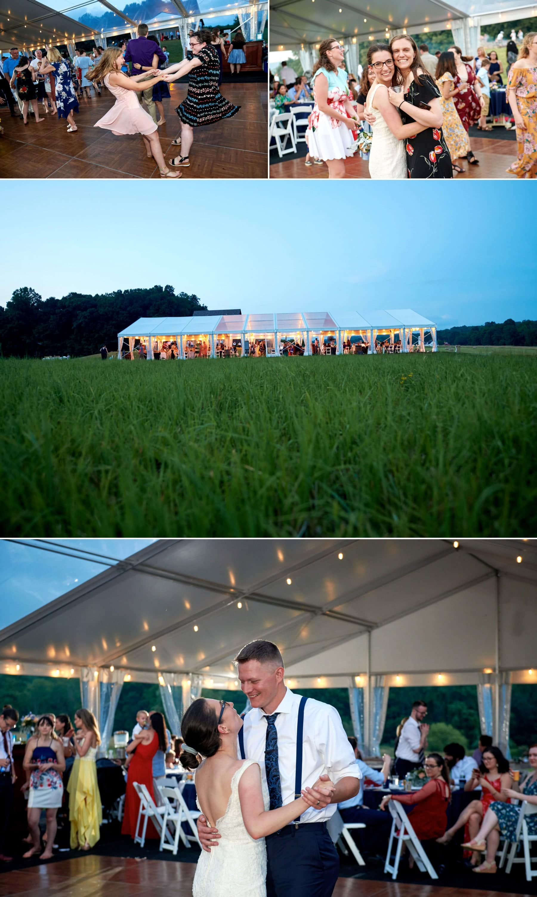the wedding tent at born to run farm