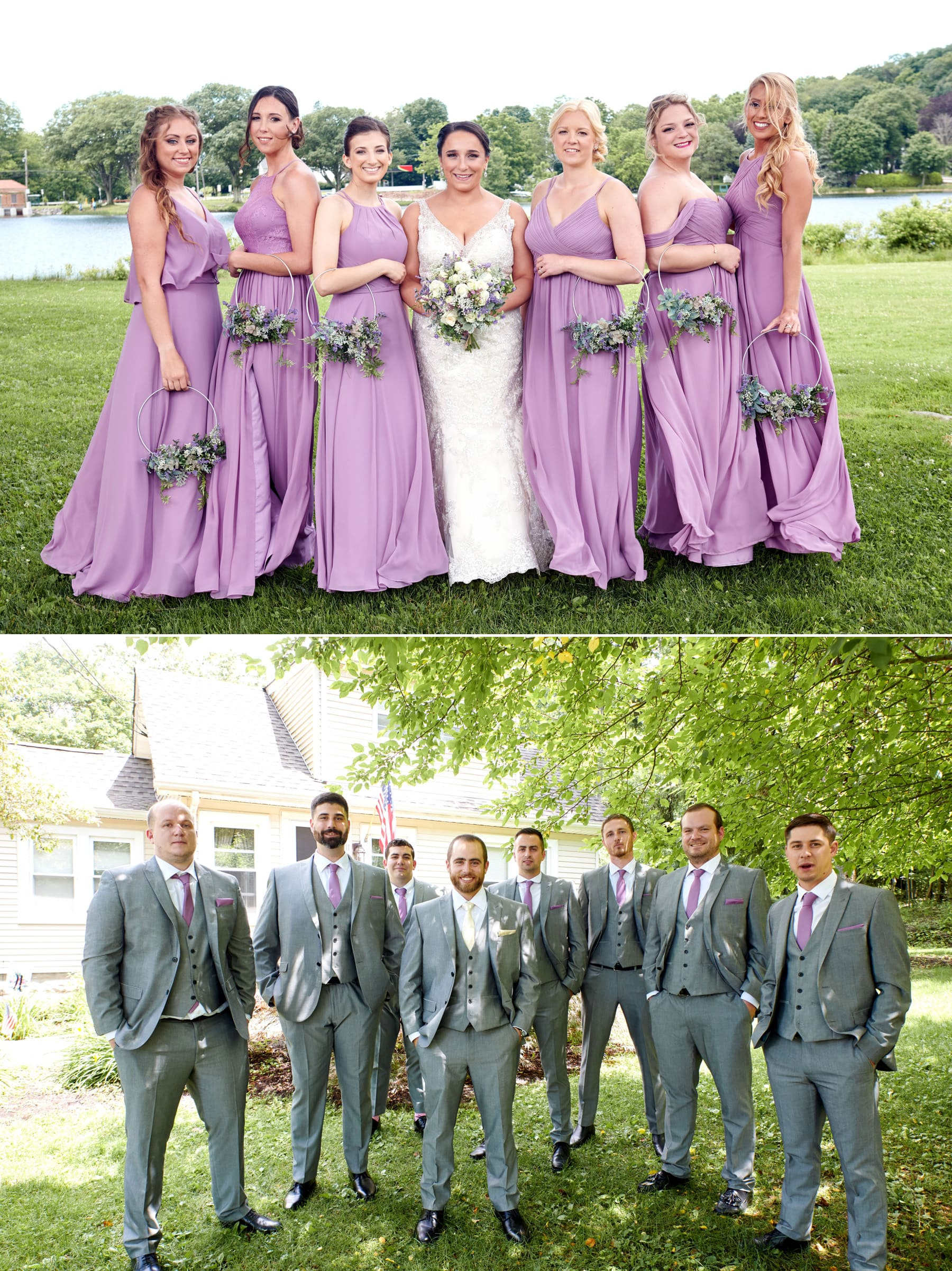 bridesmaid and groomsmen photos