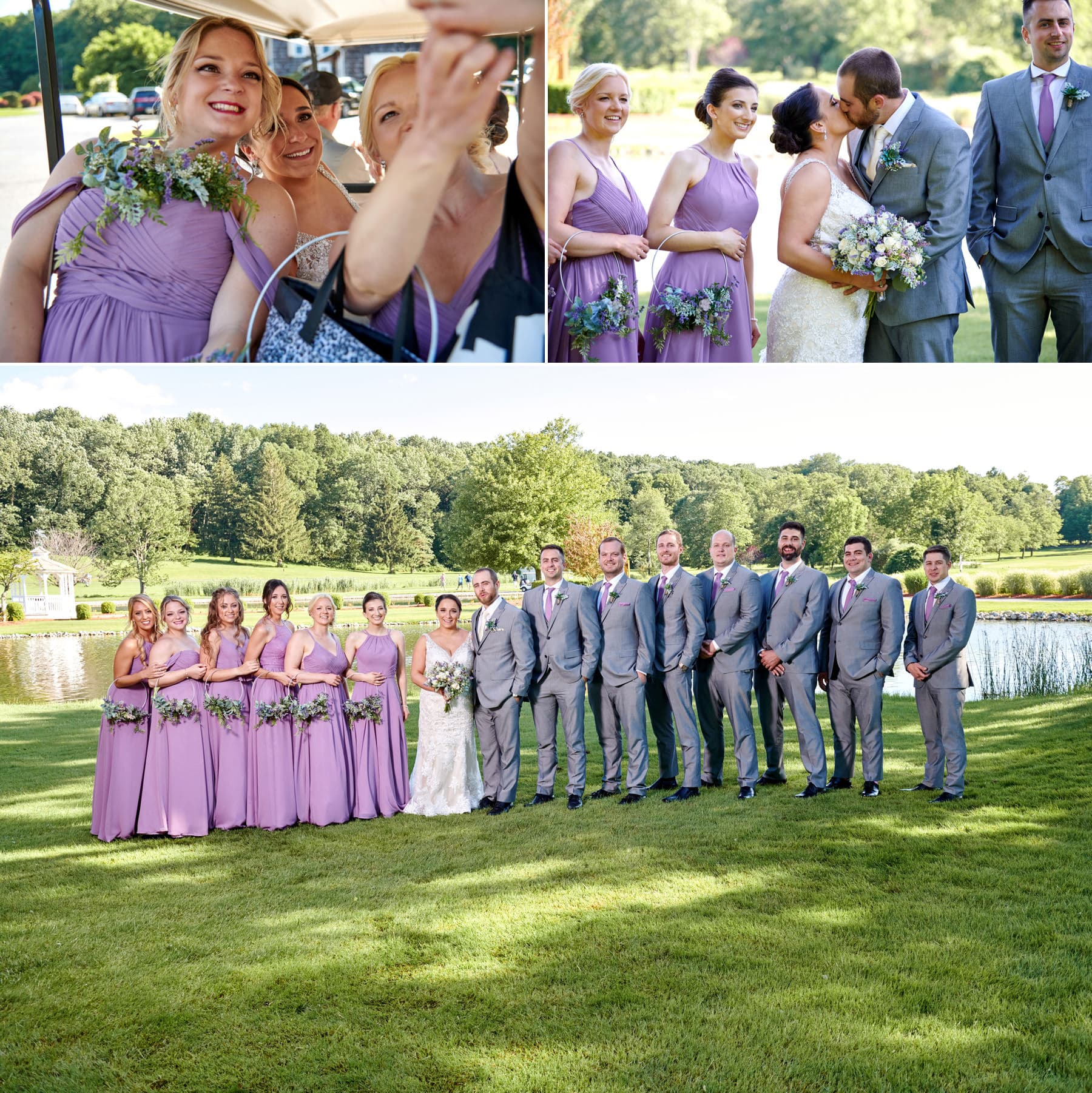 bridal party photos at farmstead golf club wedding