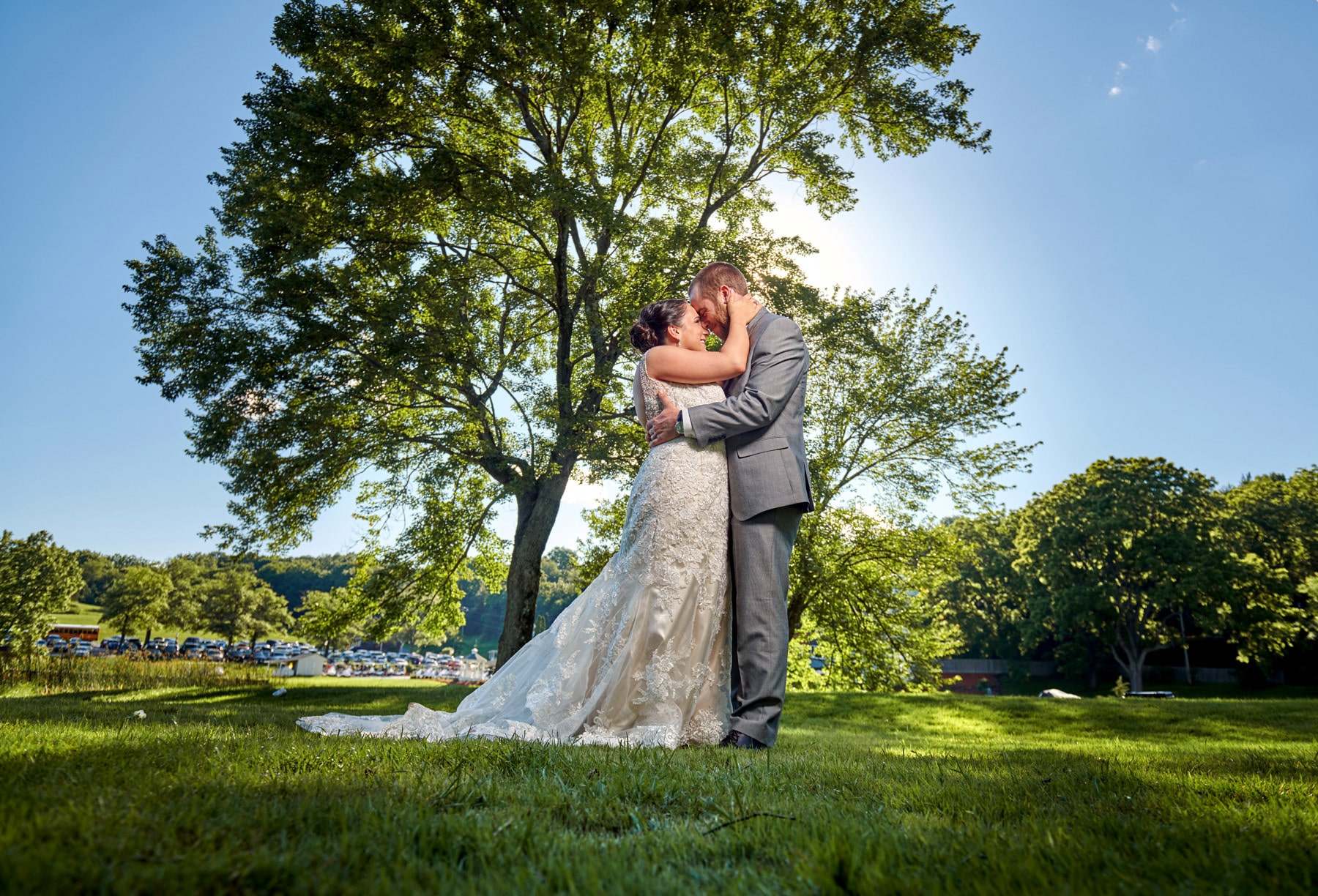farmstead golf club wedding photo