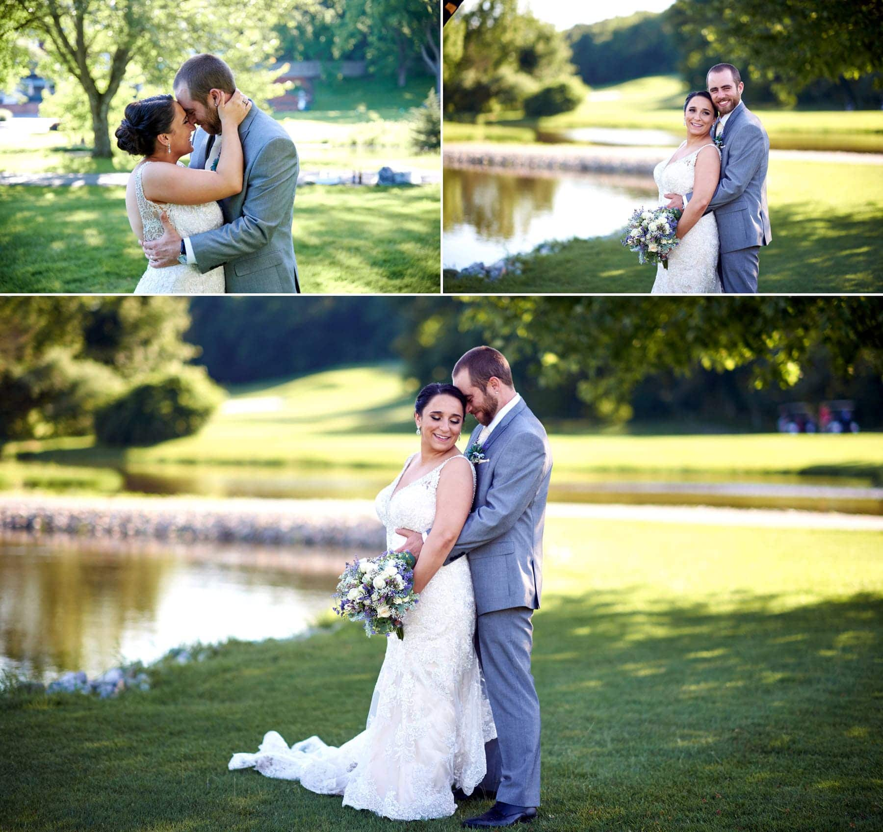 summer wedding photos at farmstead golf club