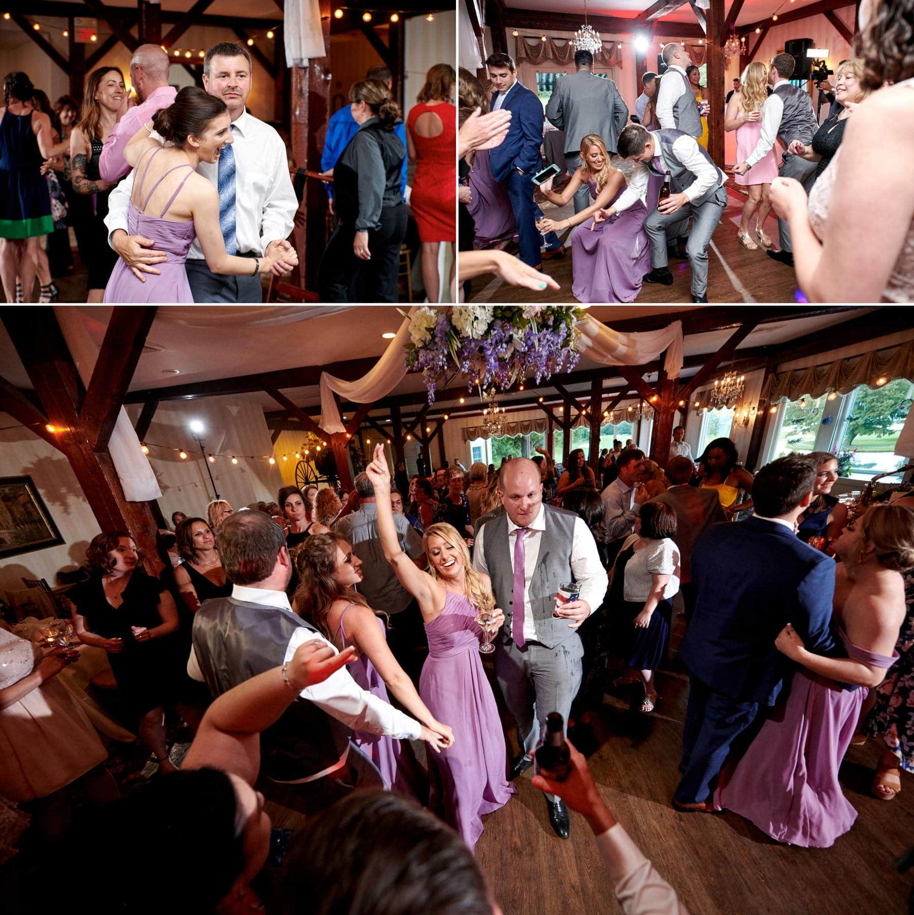 wedding dancefloor photos at farmstead golf club