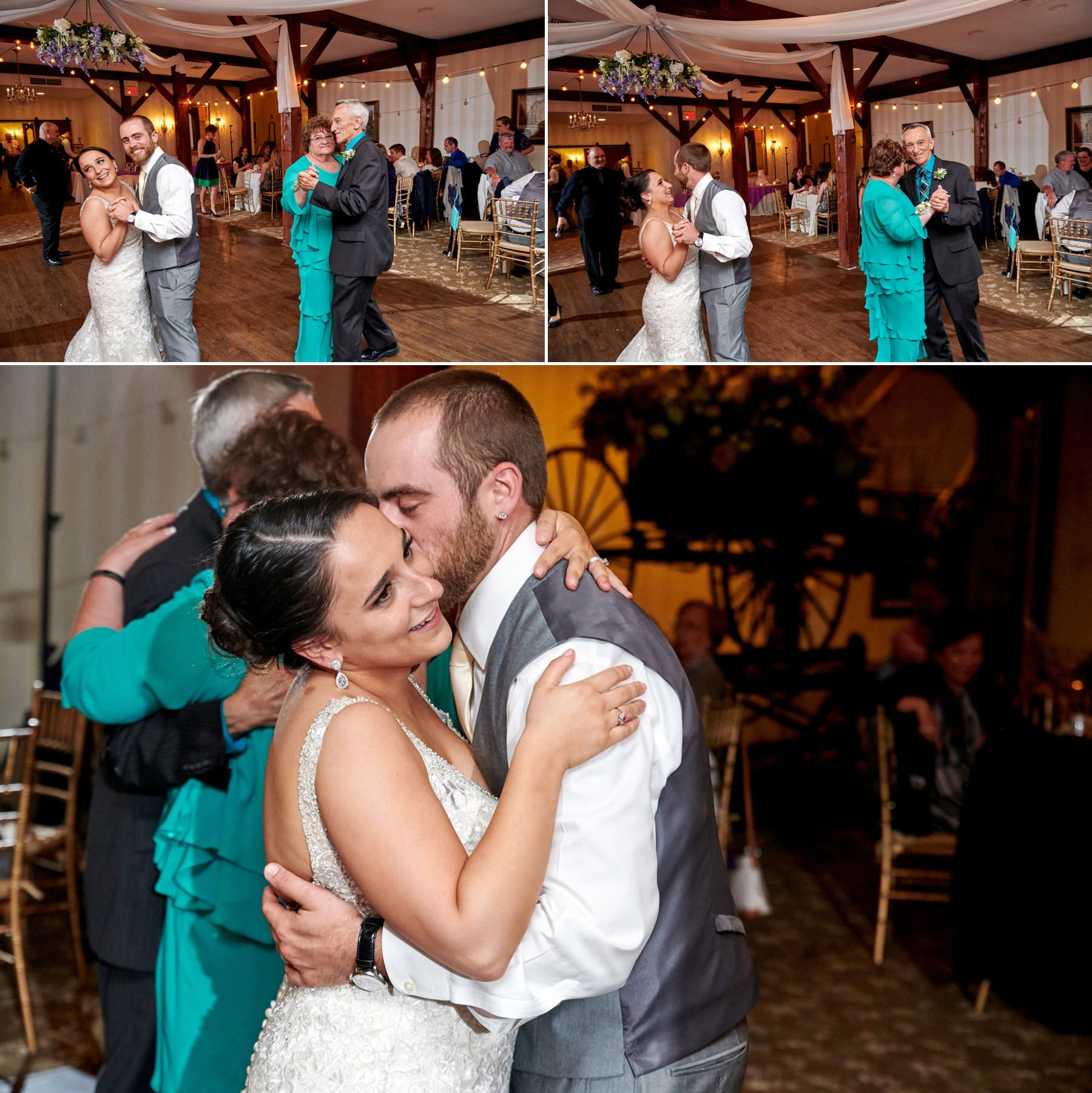 bride and groom dancing at farmstead golf club