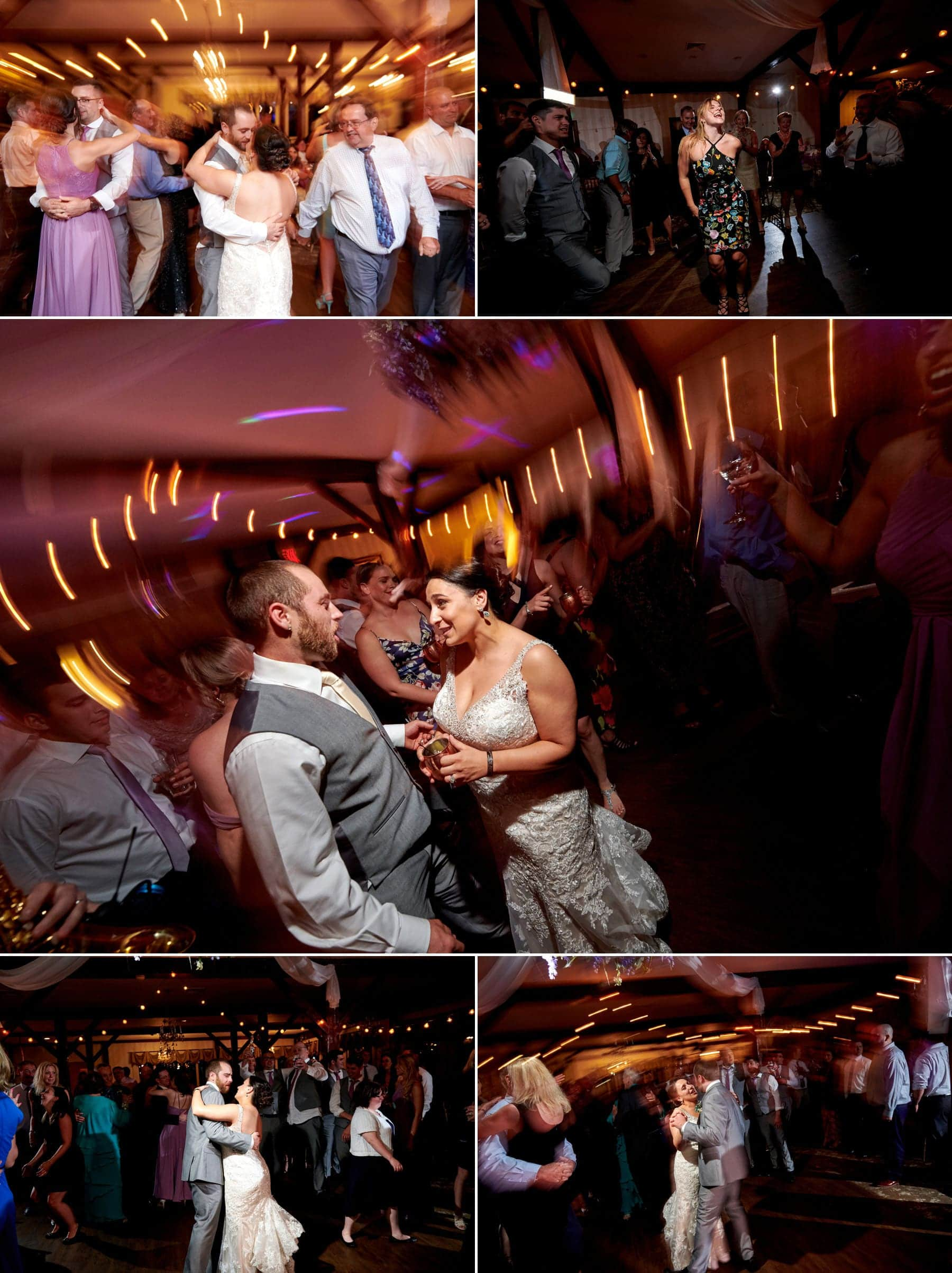 epic wedding dancing photos at farmstead golf club