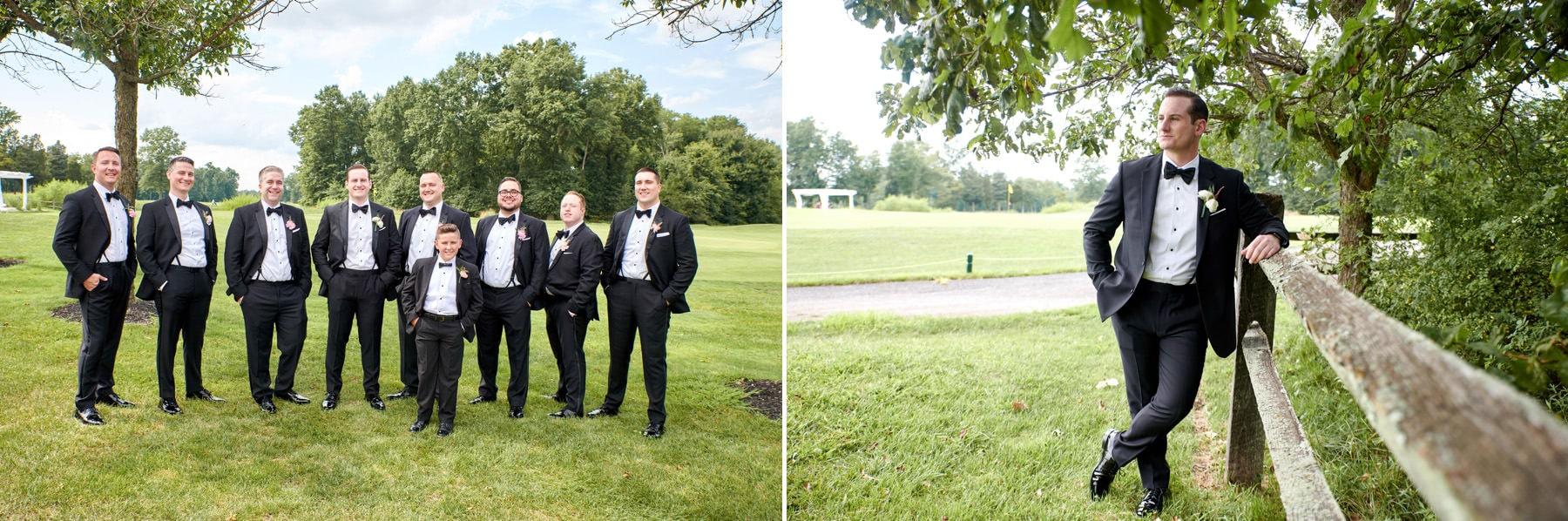 groomsmen at Royce Brook Golf Club