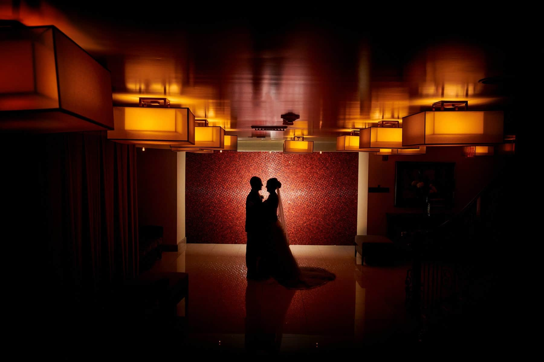 silhouette wedding photo at The Imperia