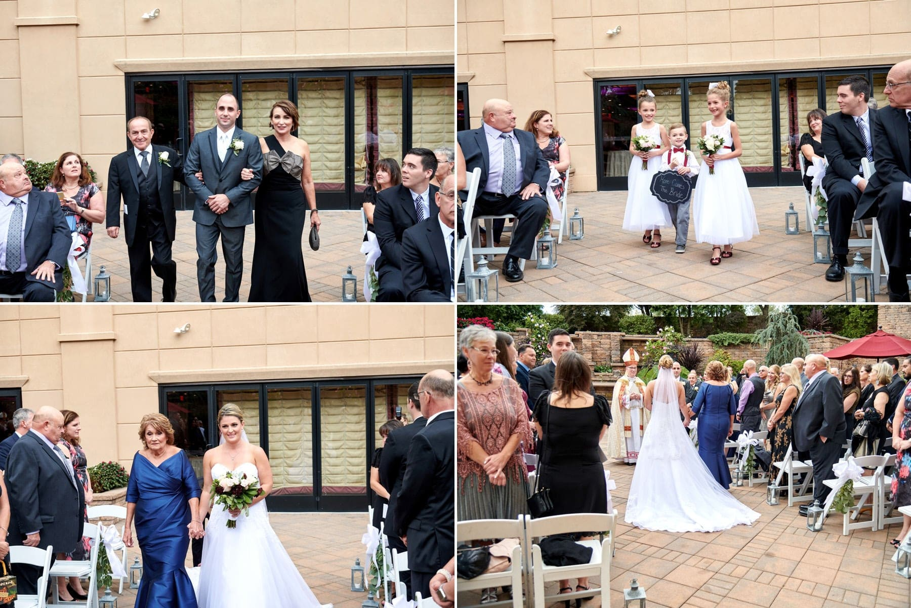 outdoor wedding ceremony at The Imperia