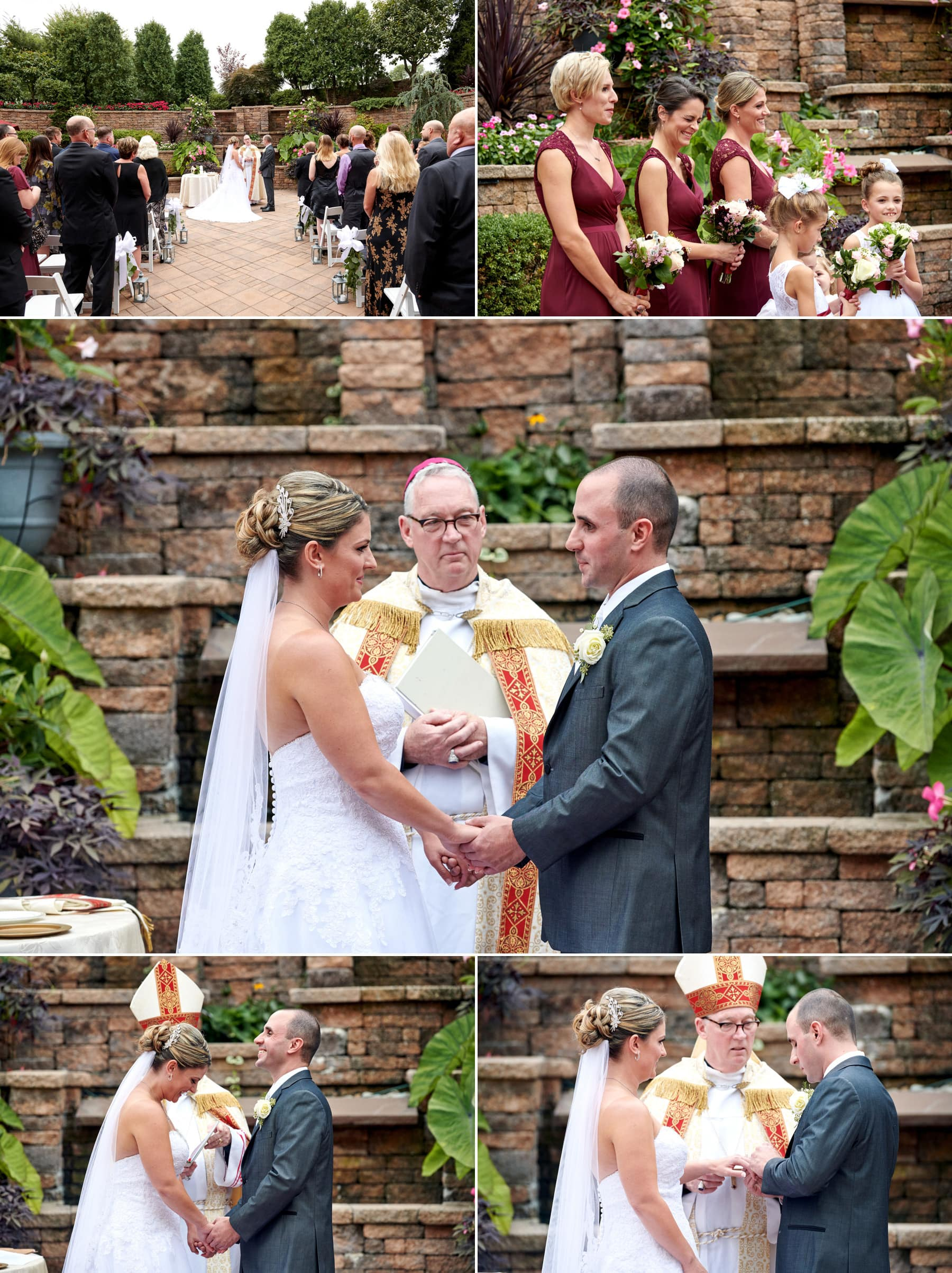 wedding ceremony photos at The Imperia