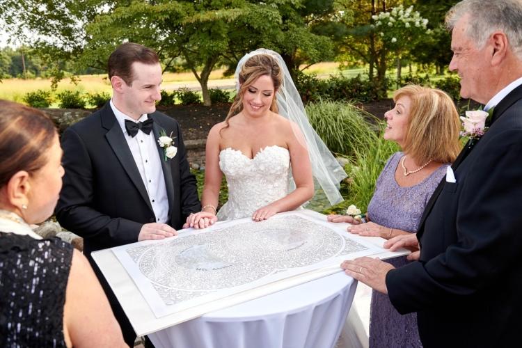 royce brook country club wedding ketubah