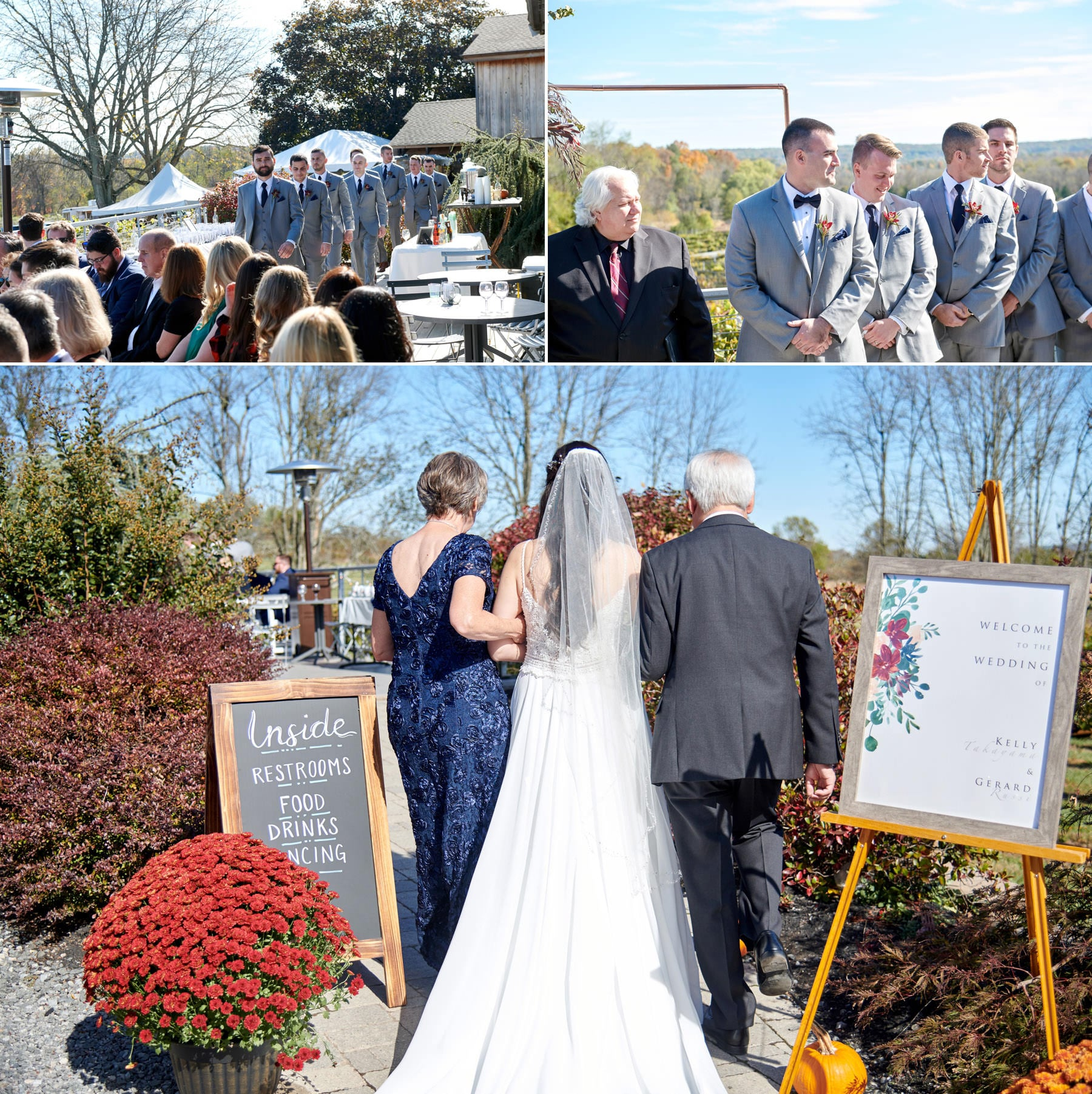 old york cellars wedding ceremony photos