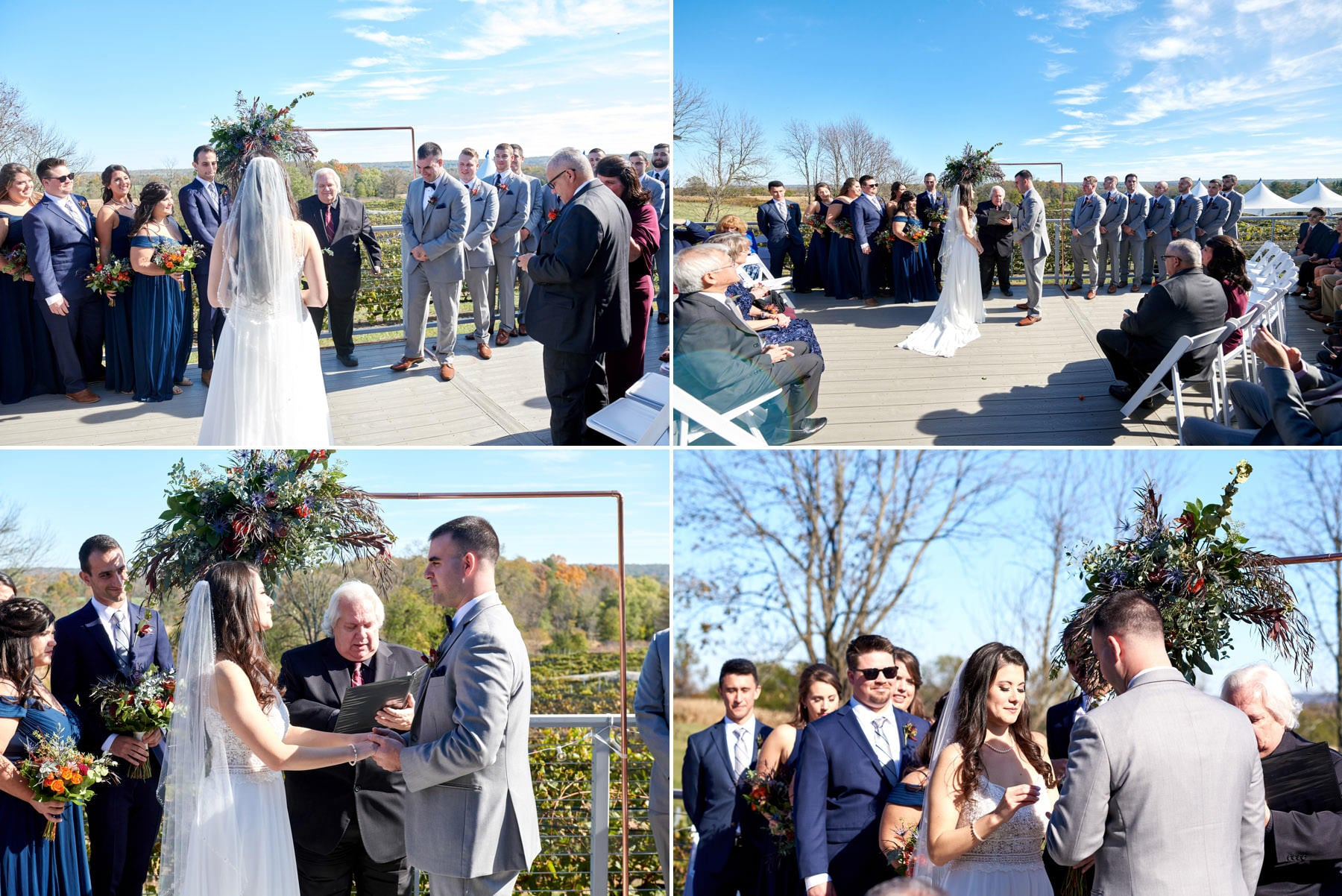 wedding ceremony photos at old york cellars