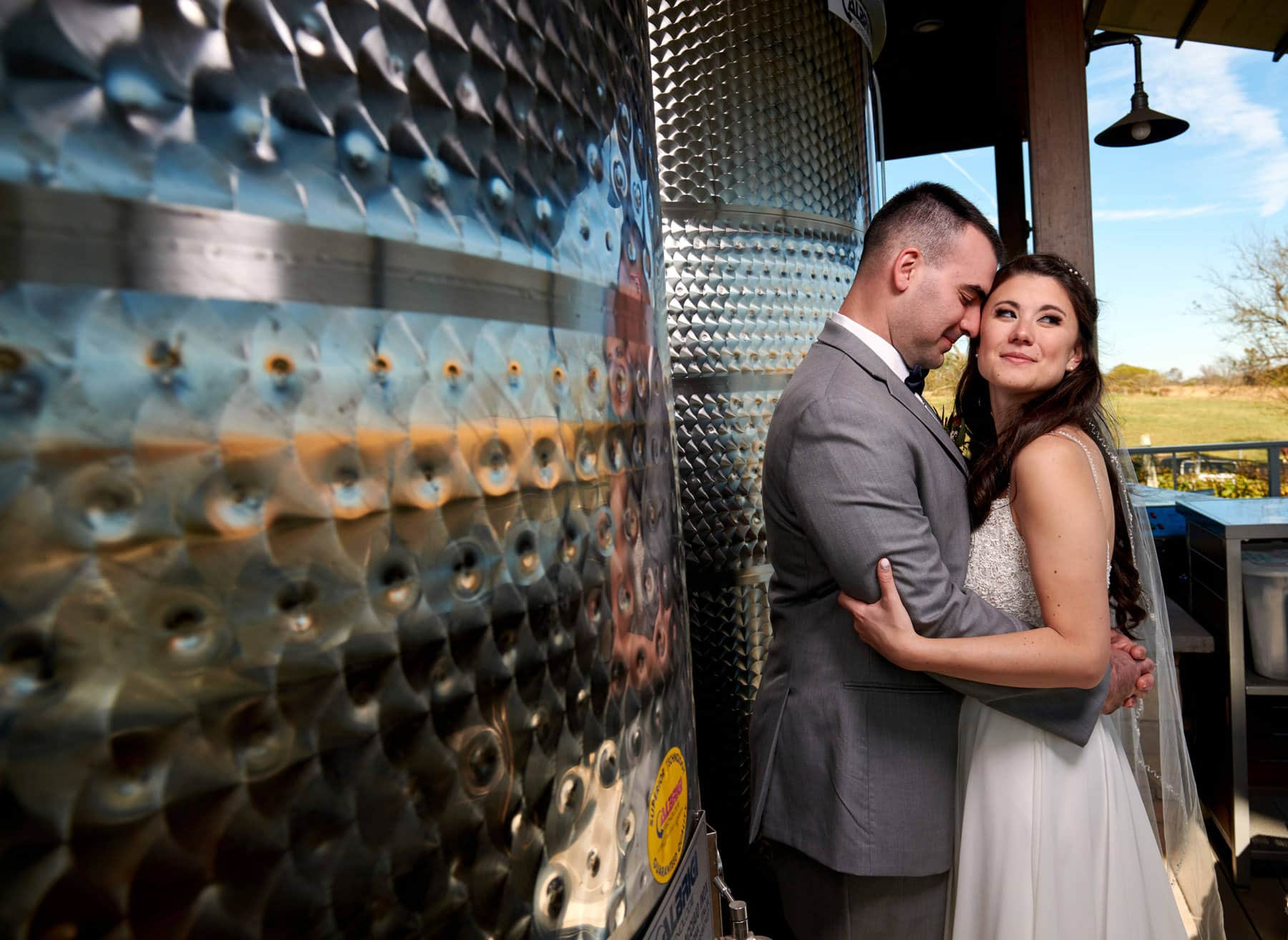 unique winery wedding photo
