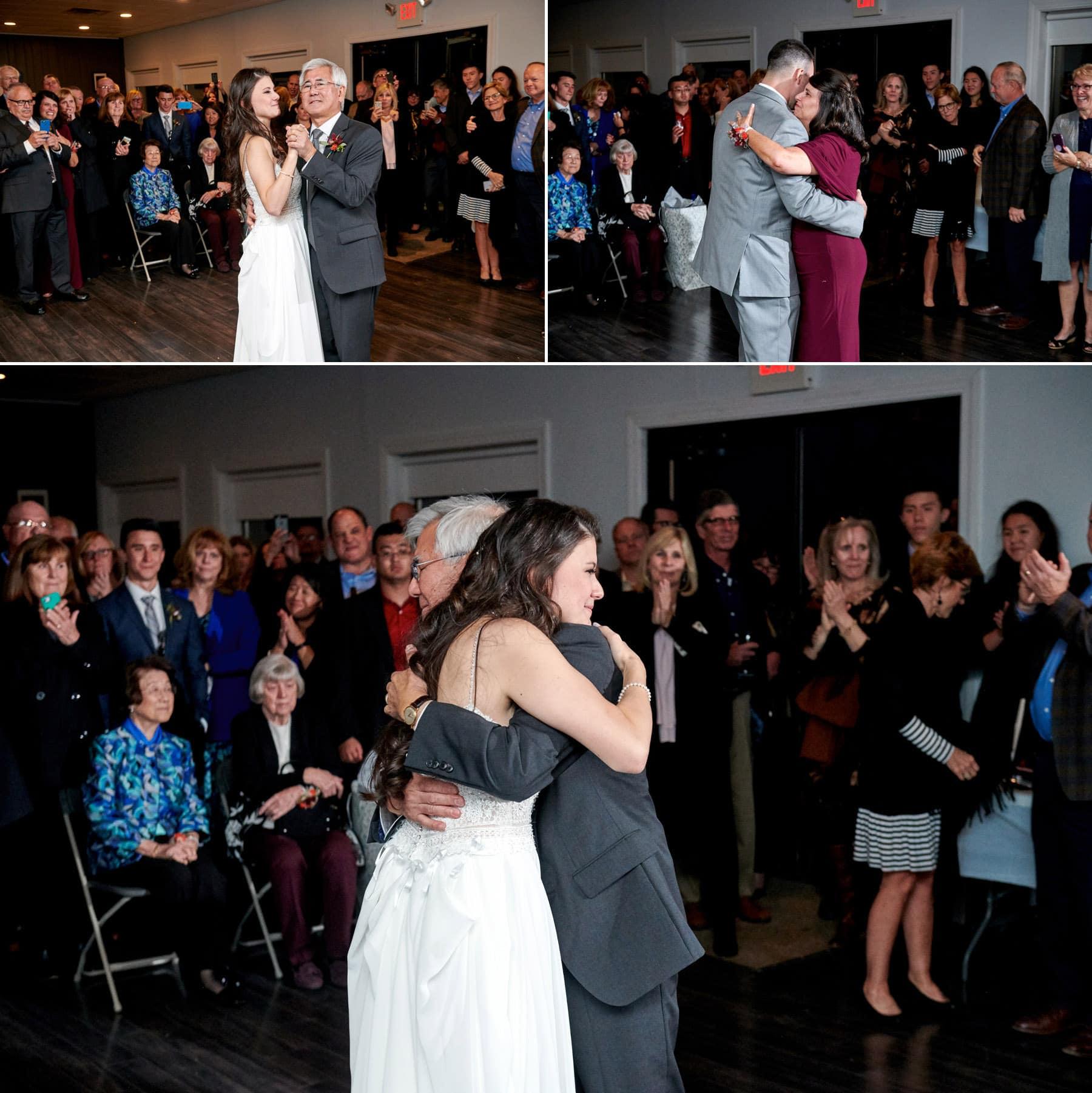 wedding parent dance photos at old york cellars