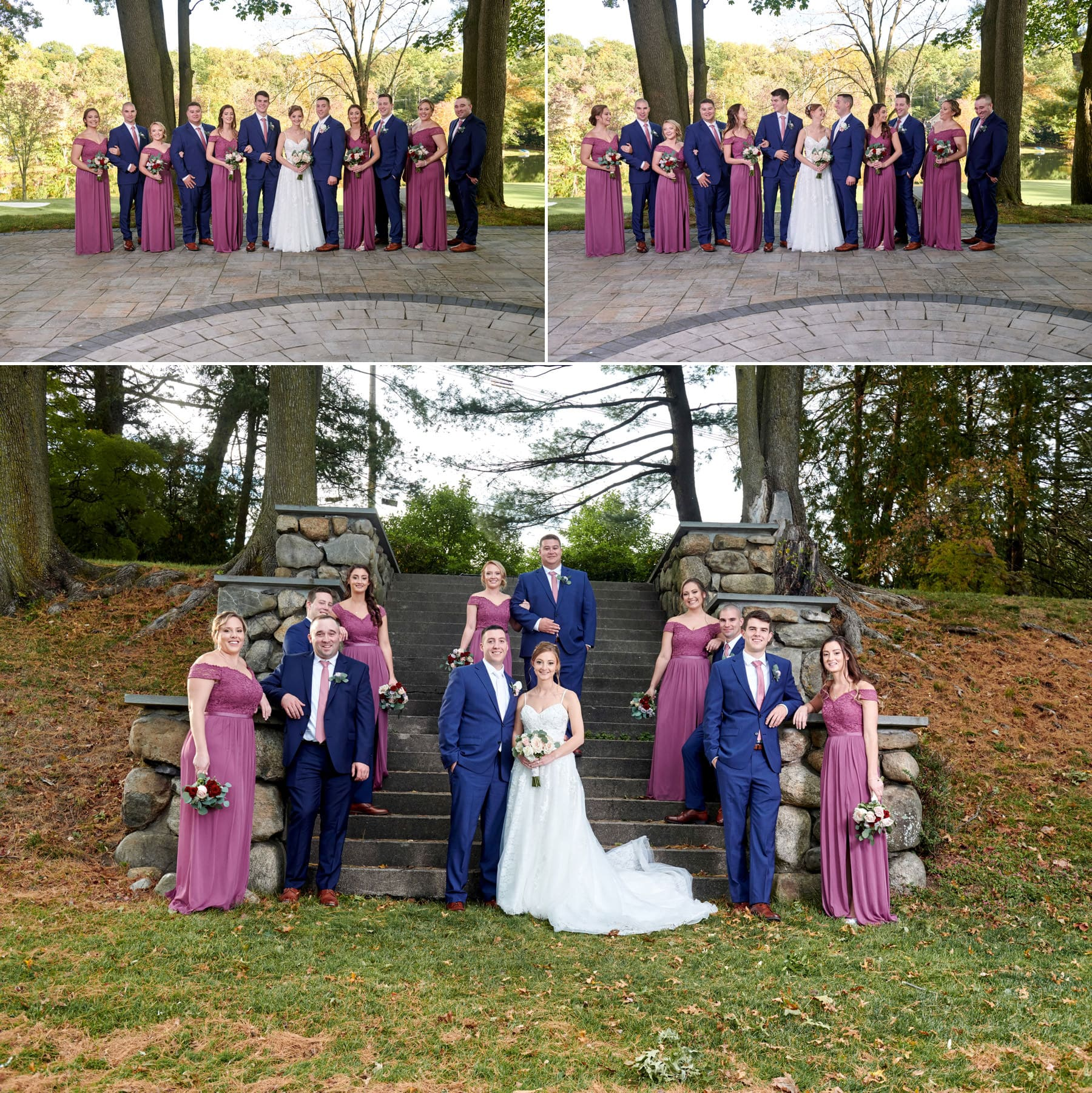 ramsey country club bridal party photos
