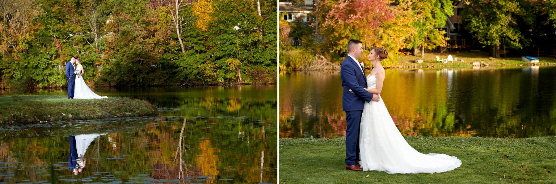 fall wedding photos at ramsey country club