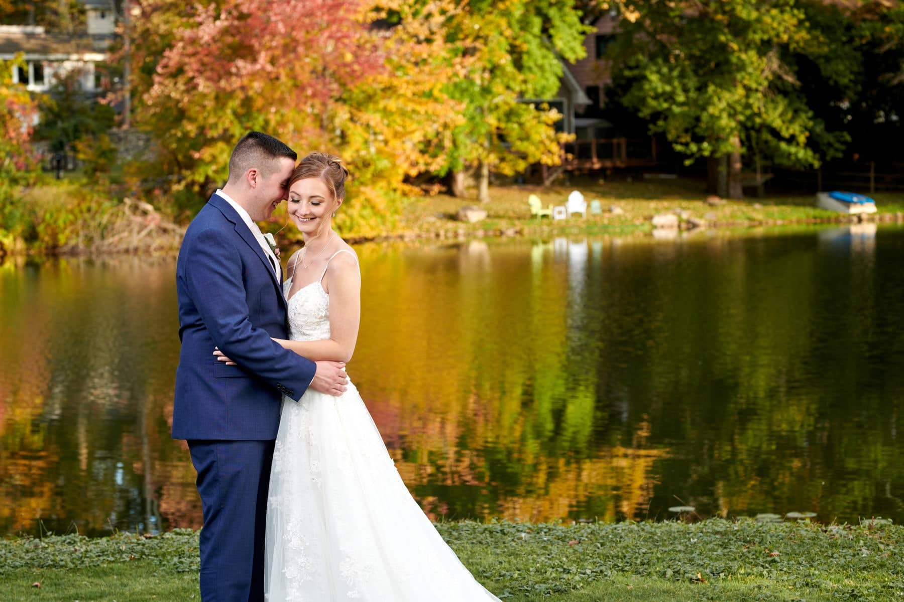 fall wedding at ramsey country club
