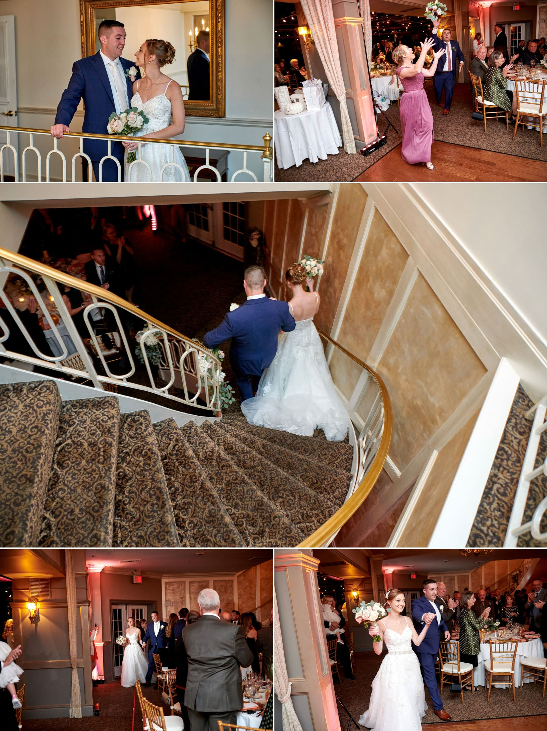 ramsey country club wedding entrance photos