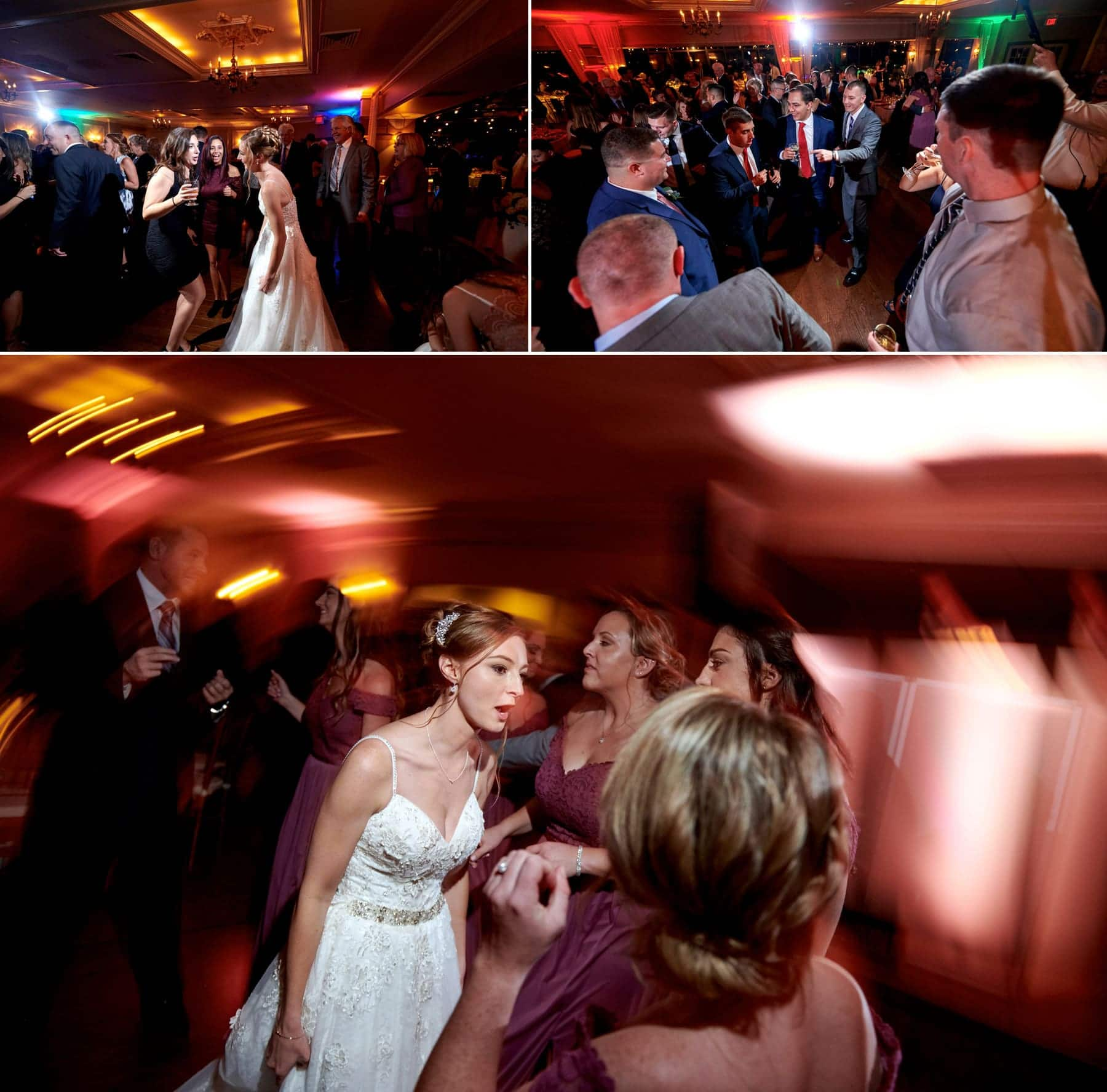 wedding dancing photos at ramsey country club