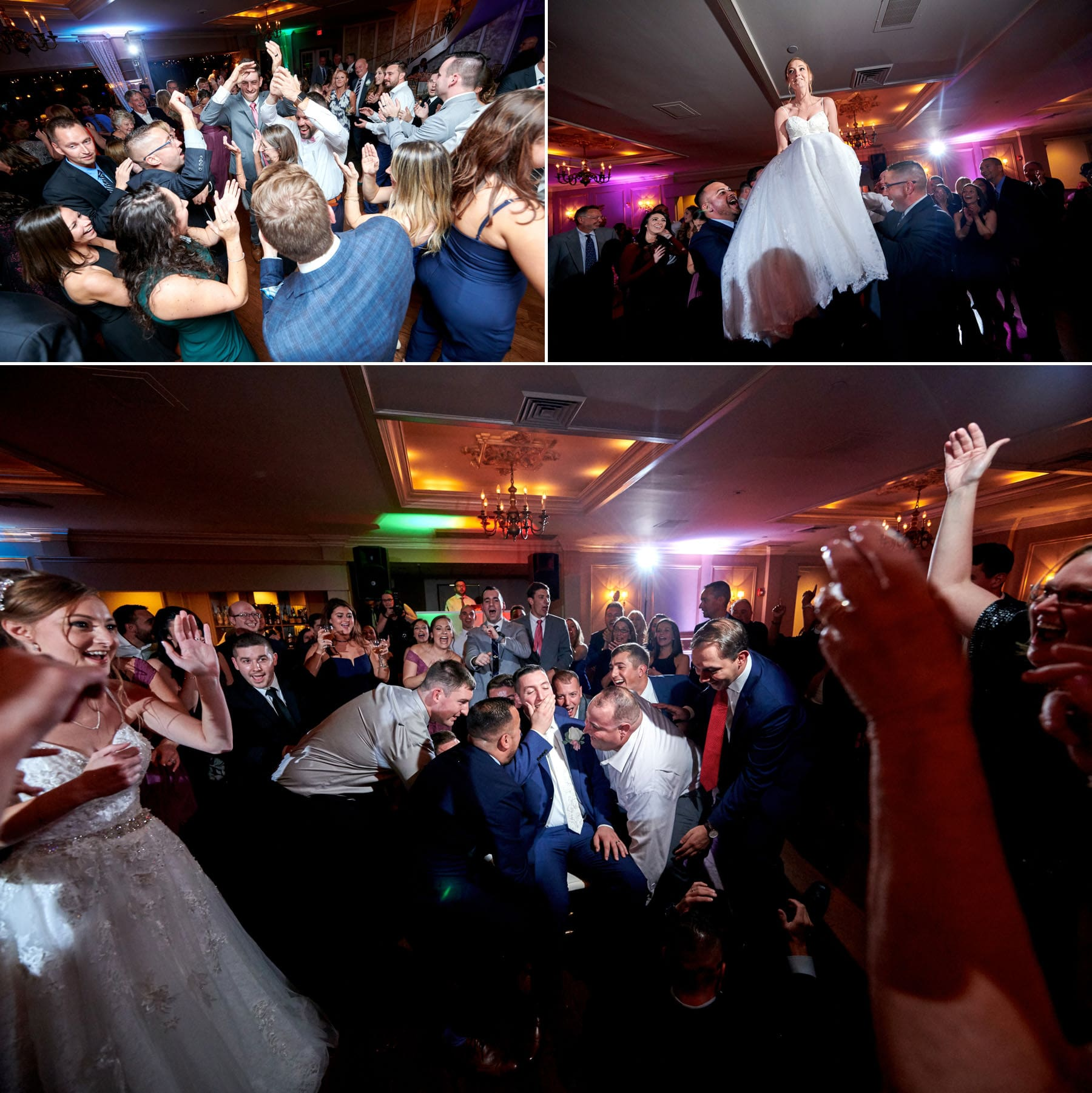 wedding dance floor photos at ramsey country club